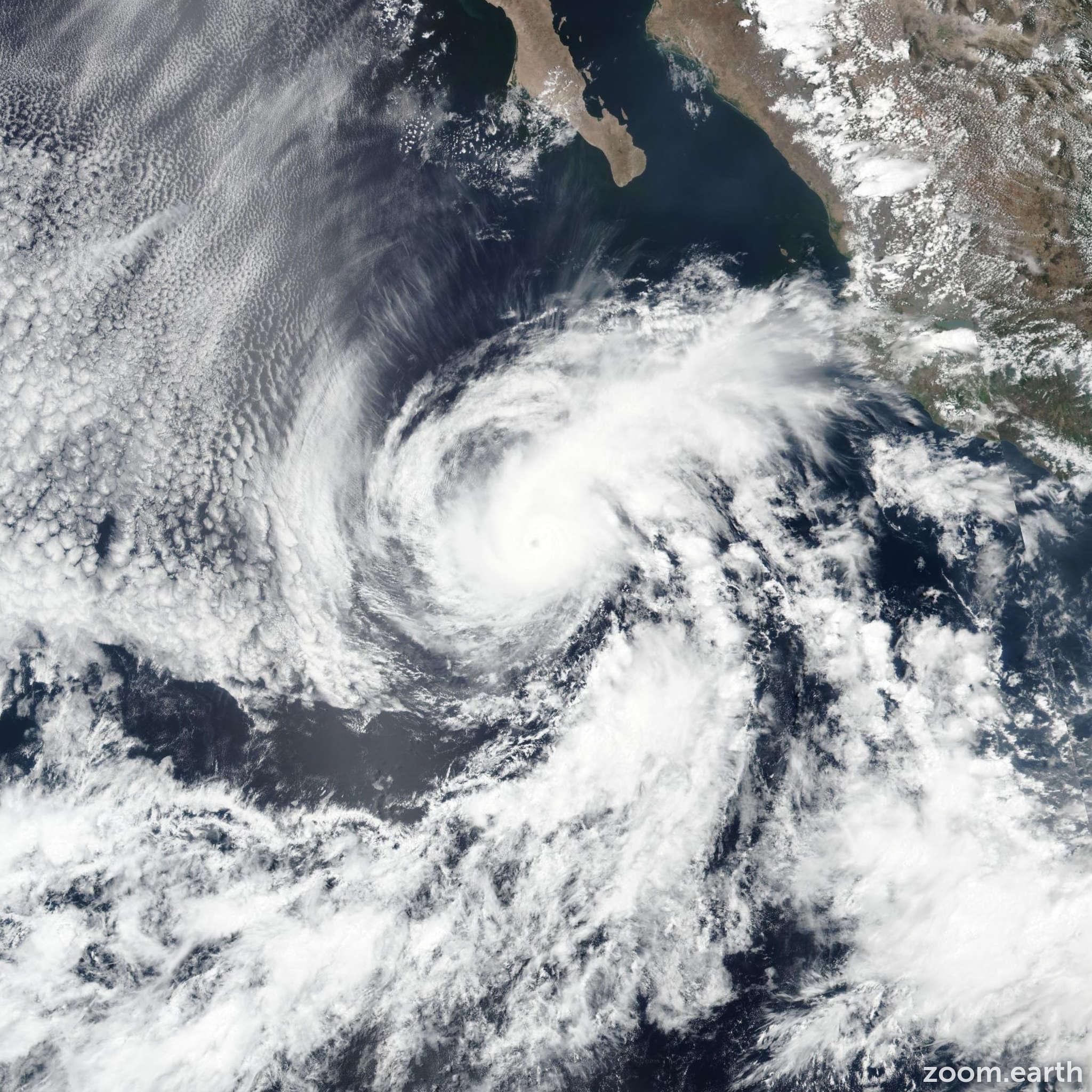 Satellite image of Hurricane Aletta 2018