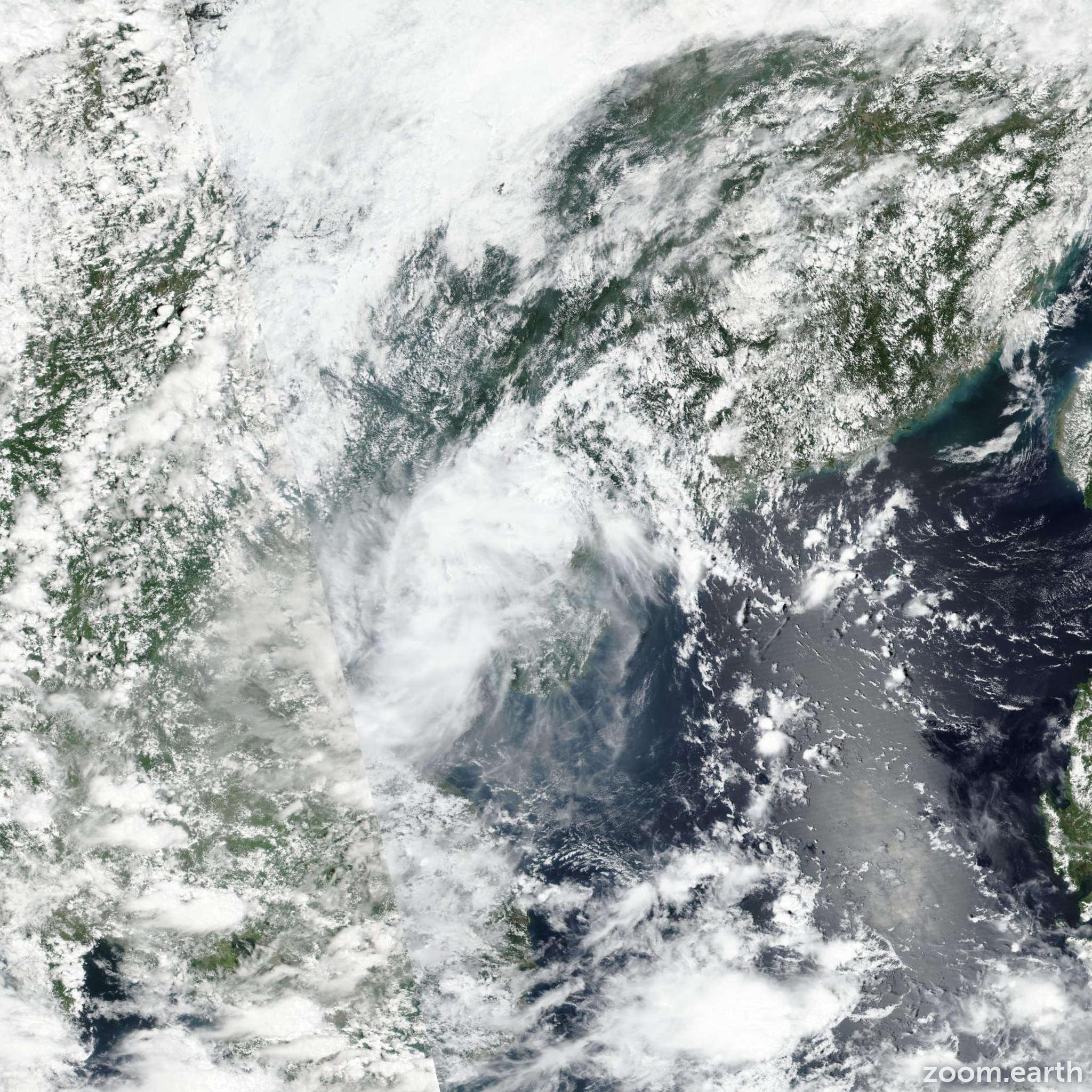 Satellite image of Storm Barijat 2018