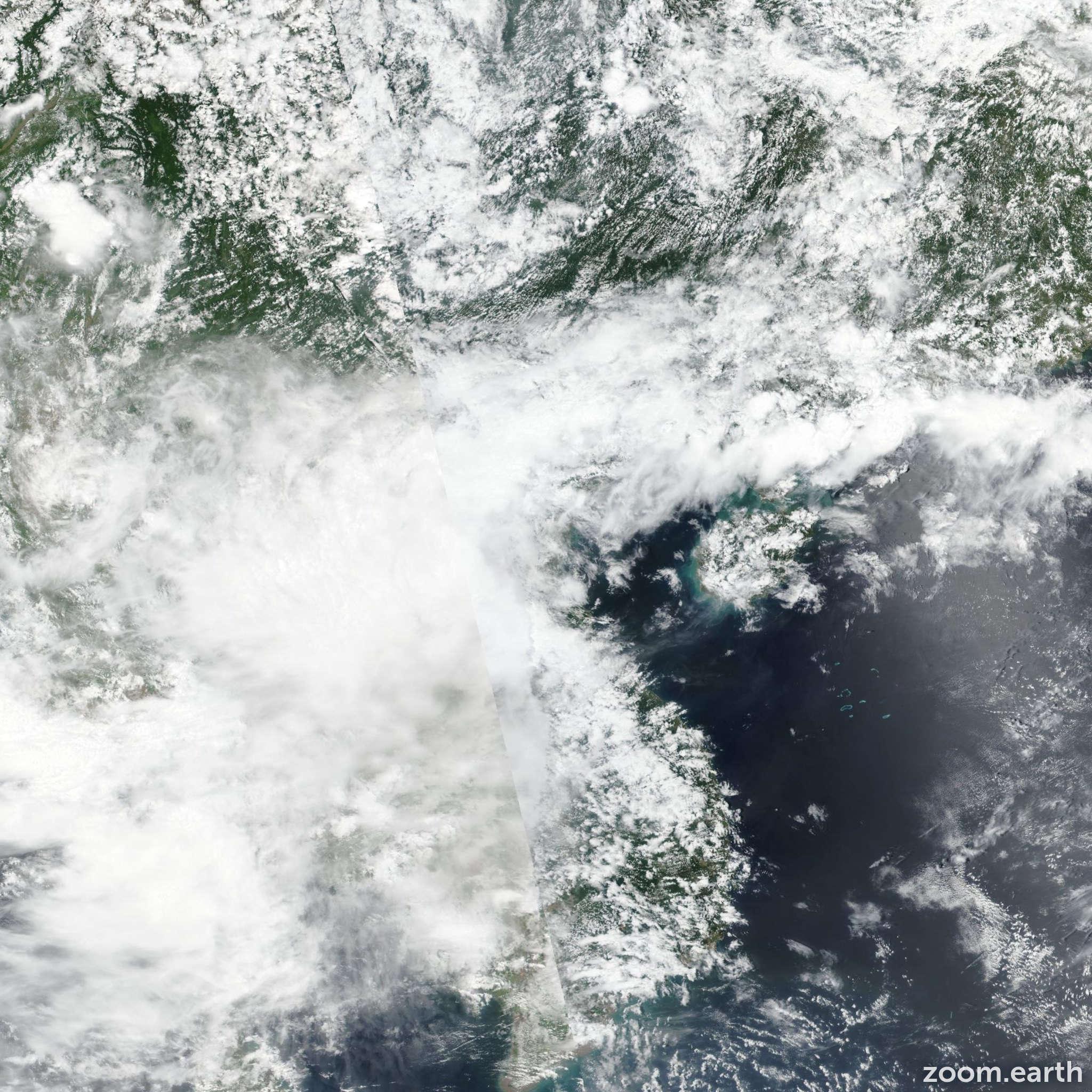 Satellite image of Storm Bebinca 2018