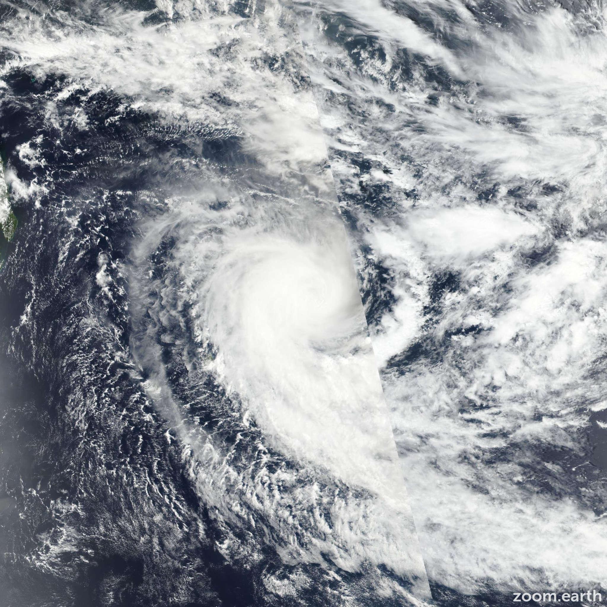 Satellite image of Cyclone Berguitta 2018