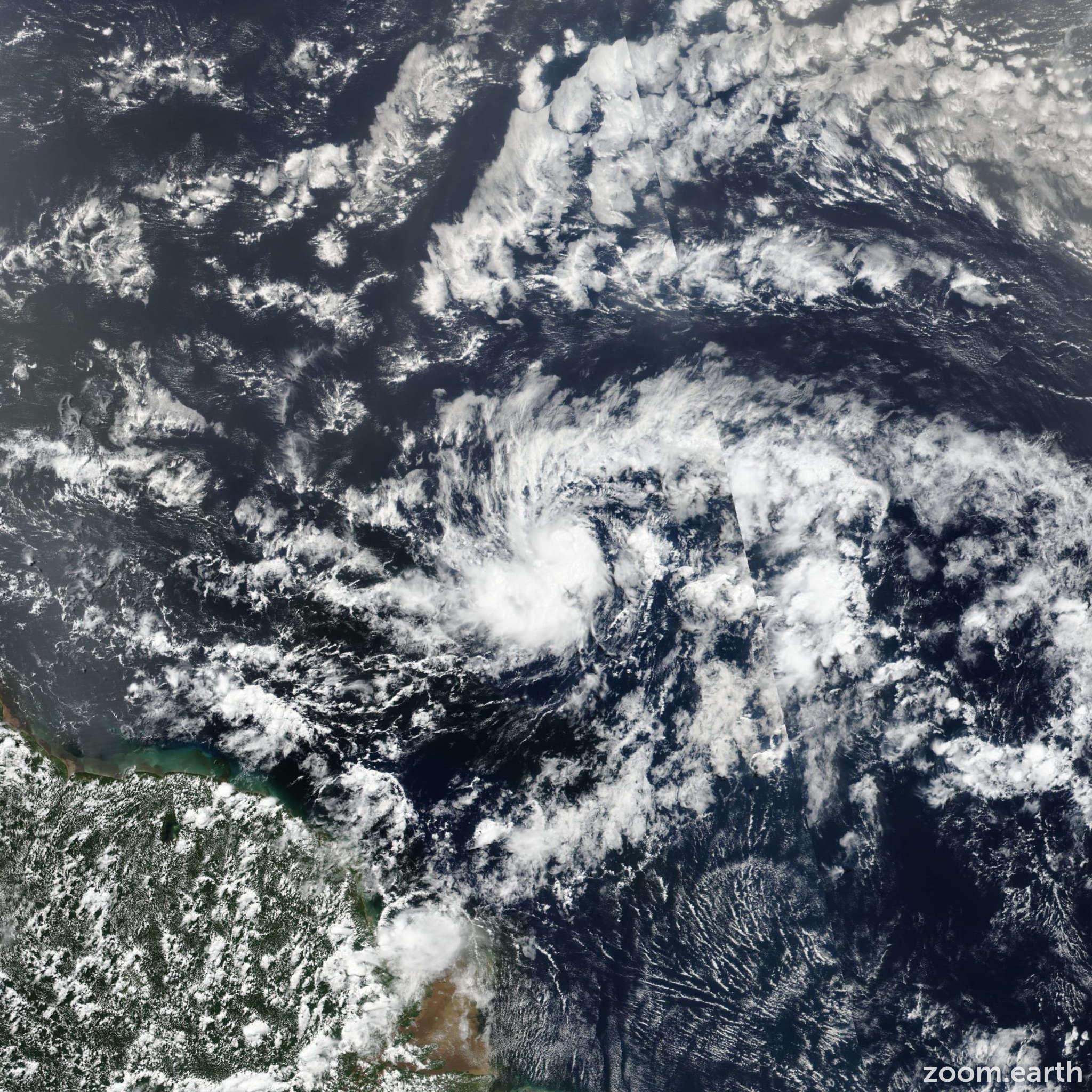 Satellite image of Hurricane Beryl 2018