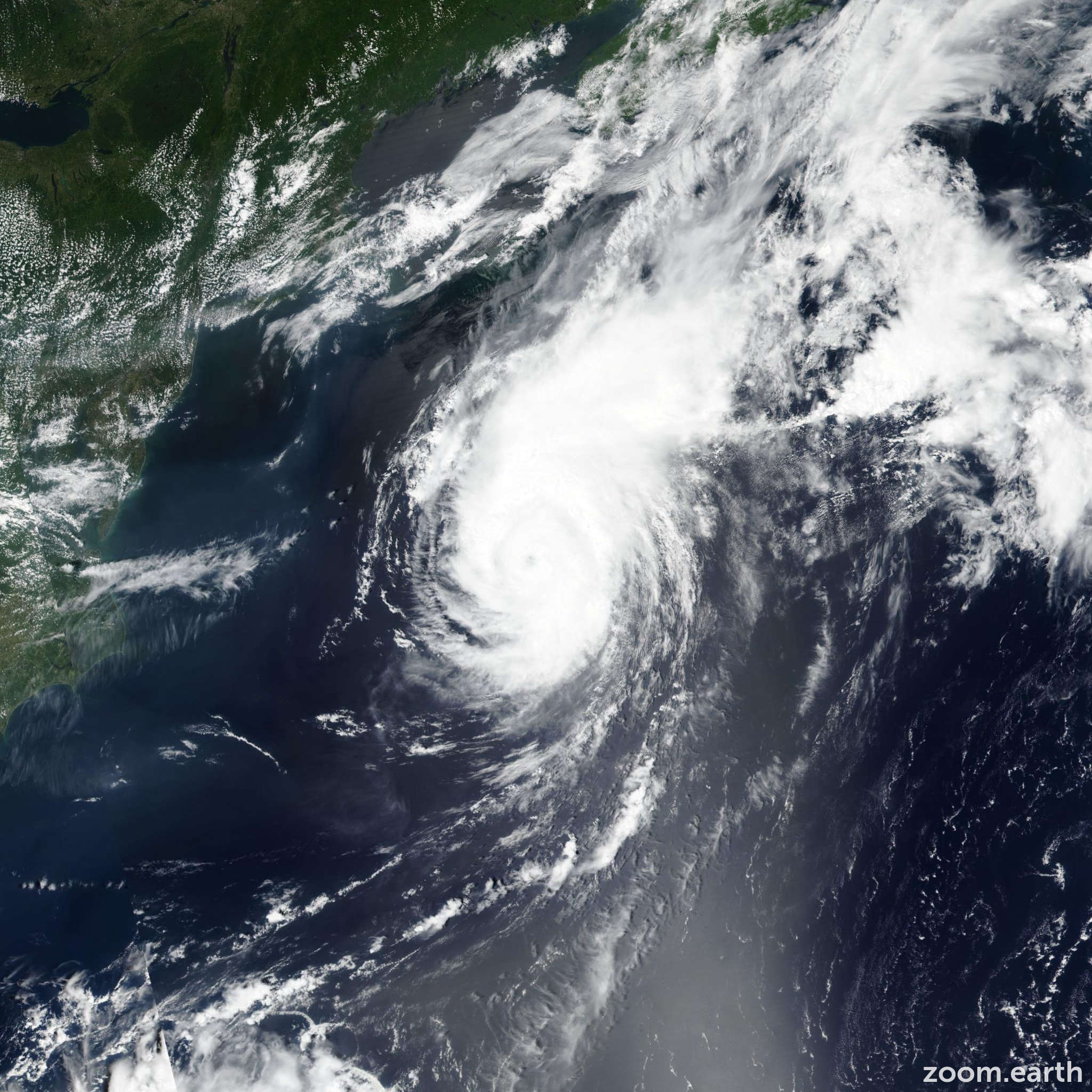 Satellite image of Hurricane Chris 2018