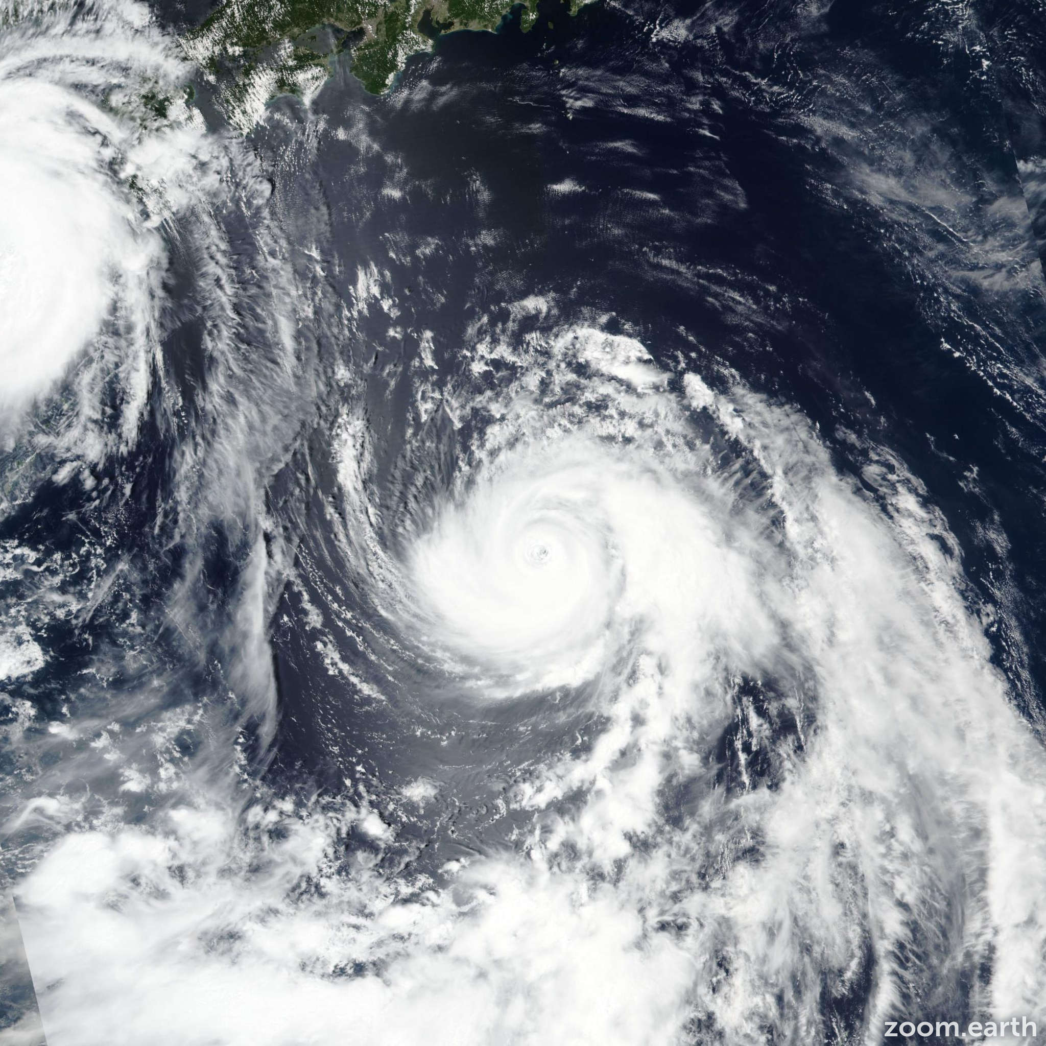 Satellite image of Typhoon Cimaron 2018