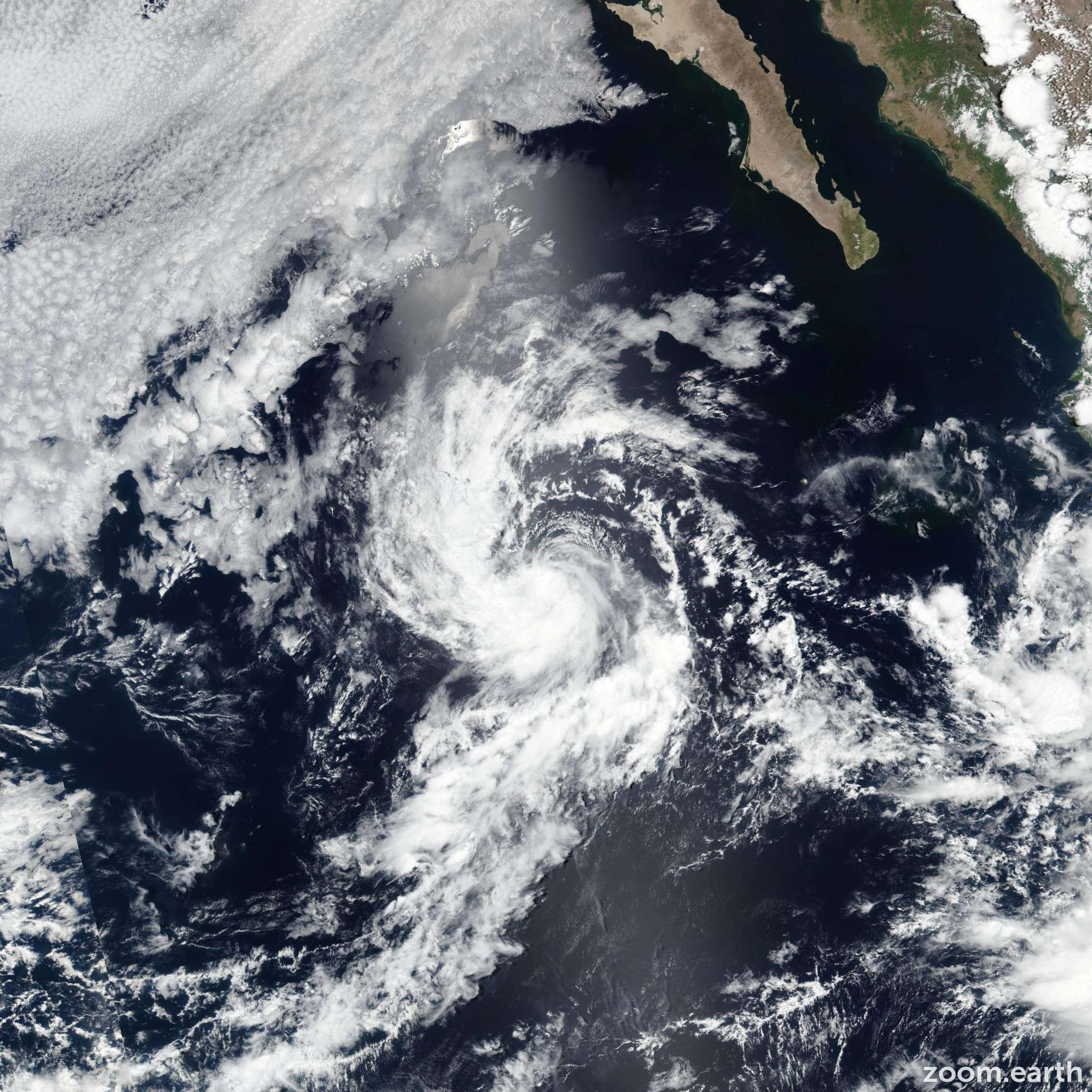 Satellite image of Storm Daniel 2018