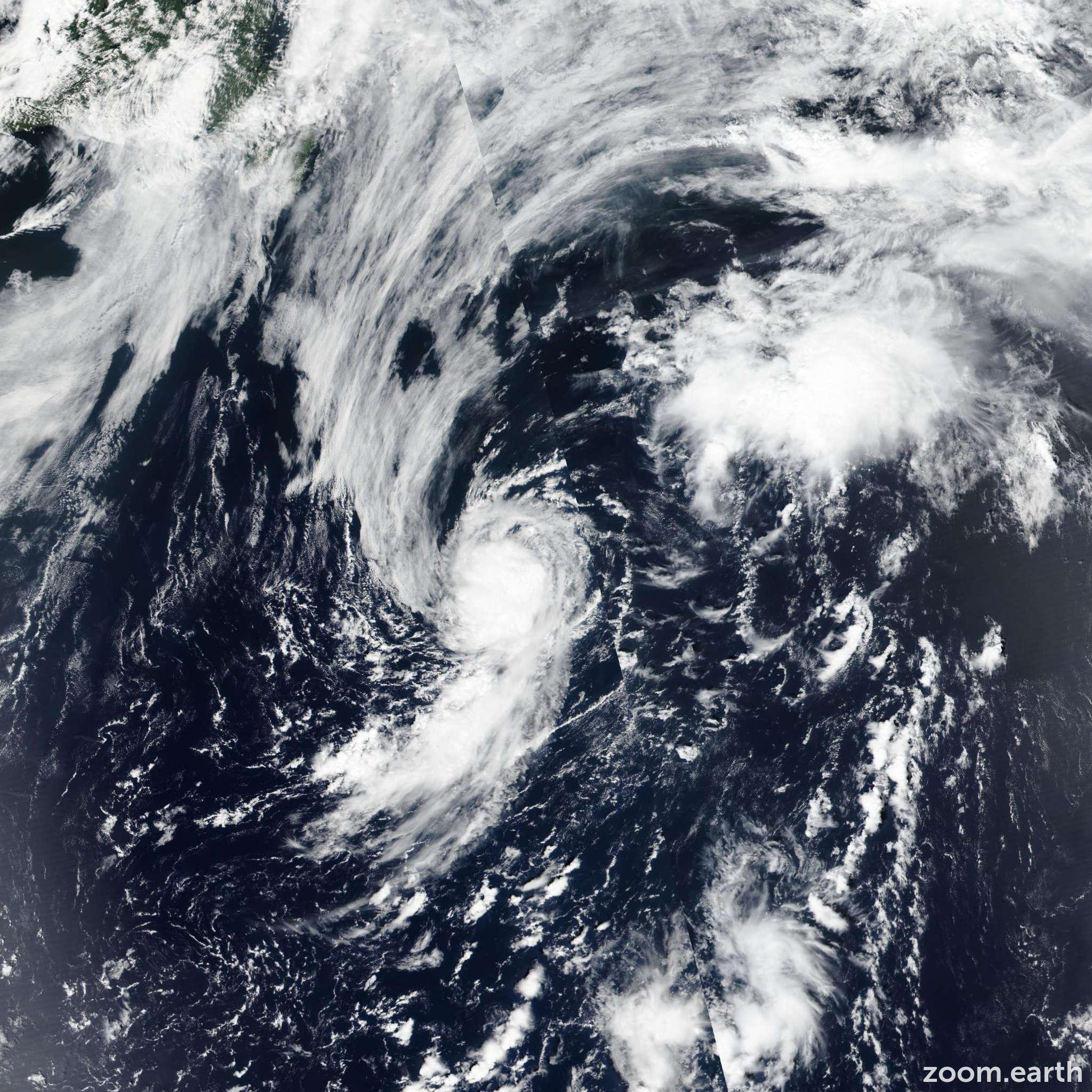 Satellite image of Storm Debby 2018