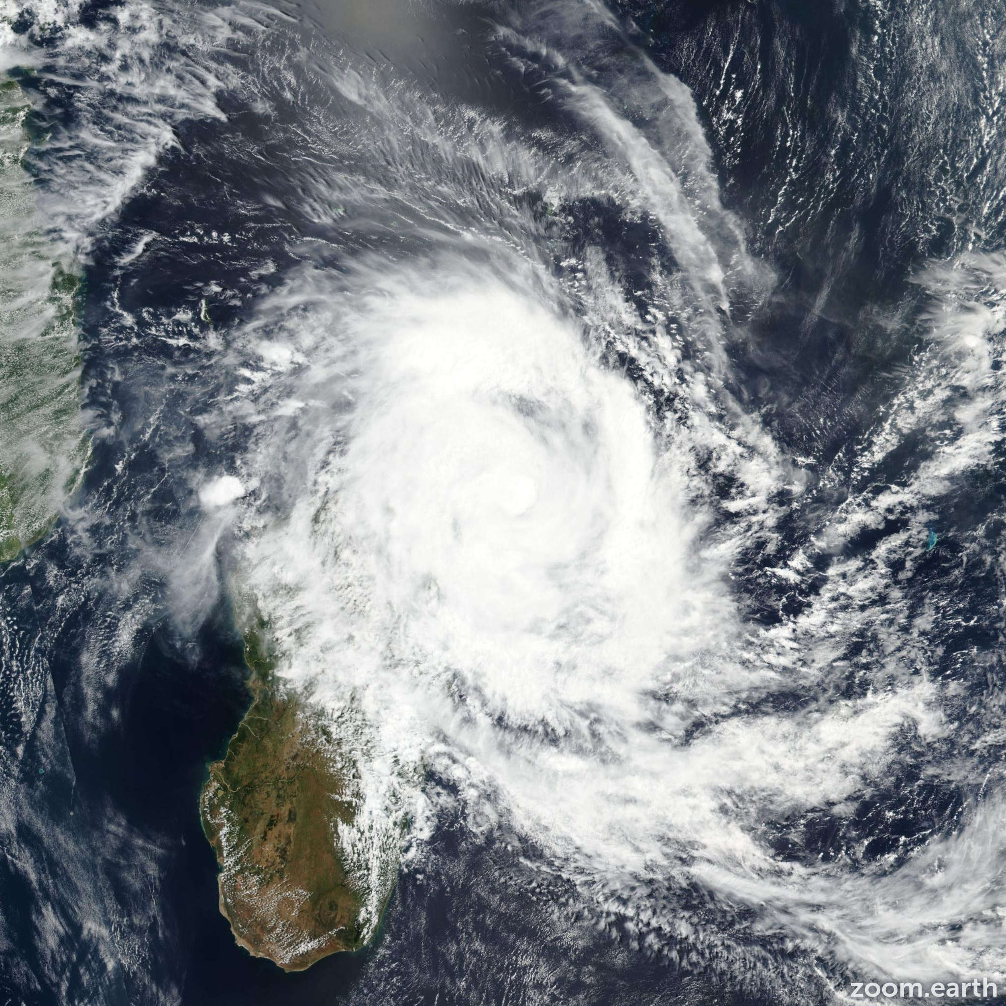 Satellite image of Storm Eliakim 2018