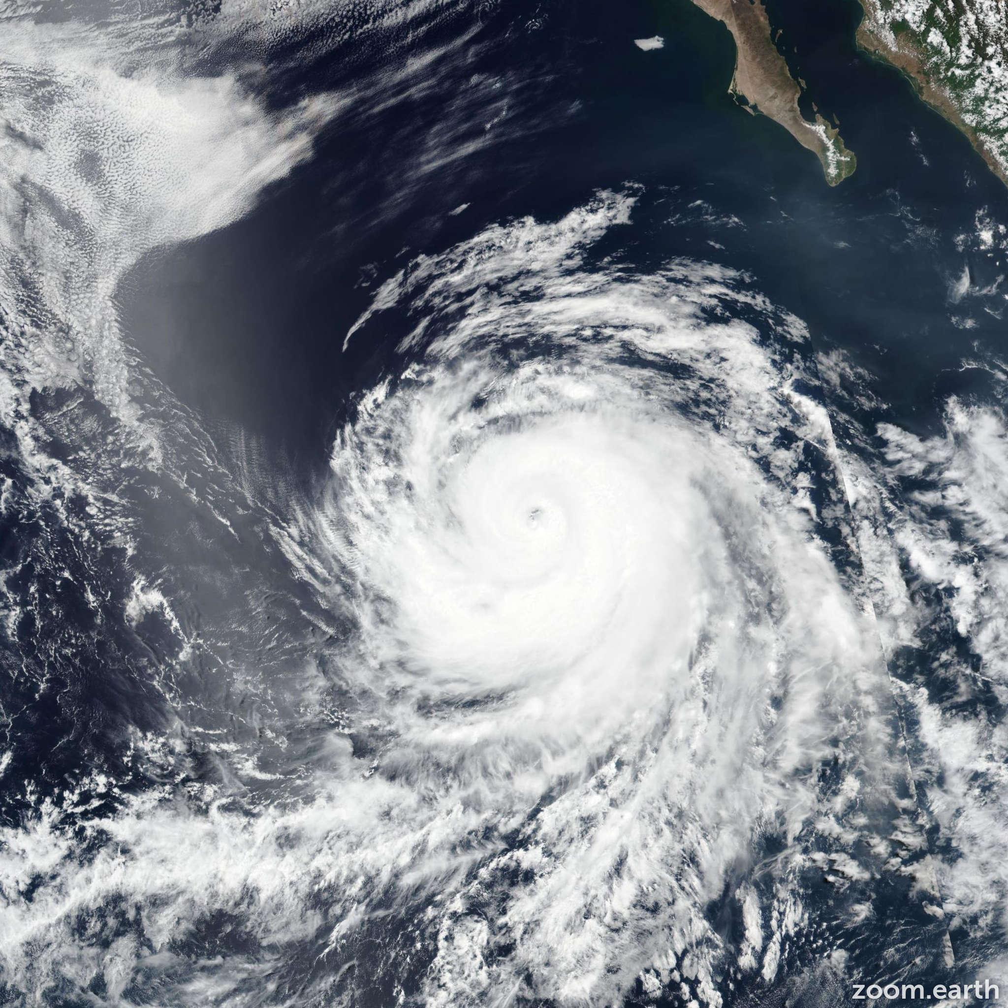 Satellite image of Hurricane Fabio 2018