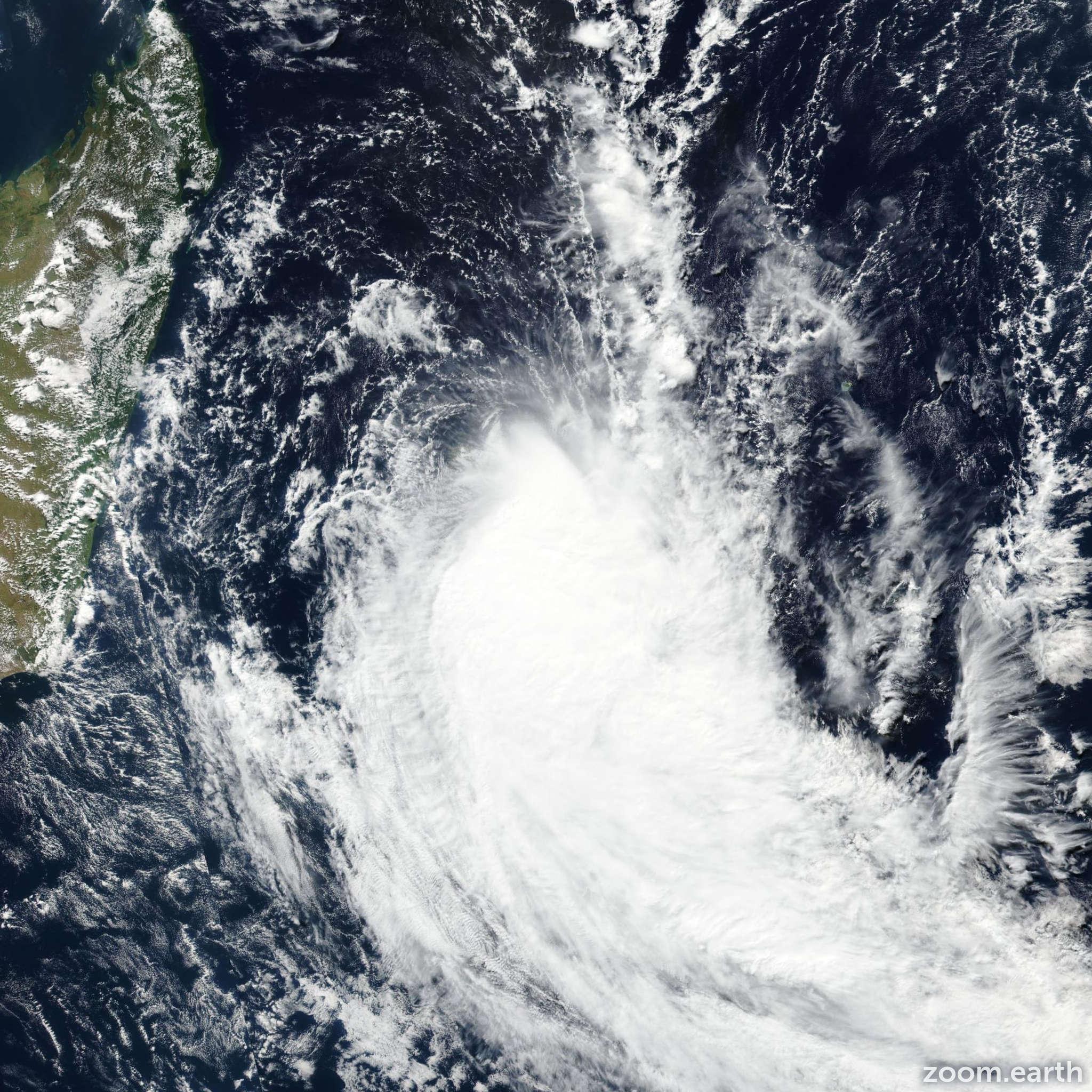 Satellite image of Cyclone Fakir 2018