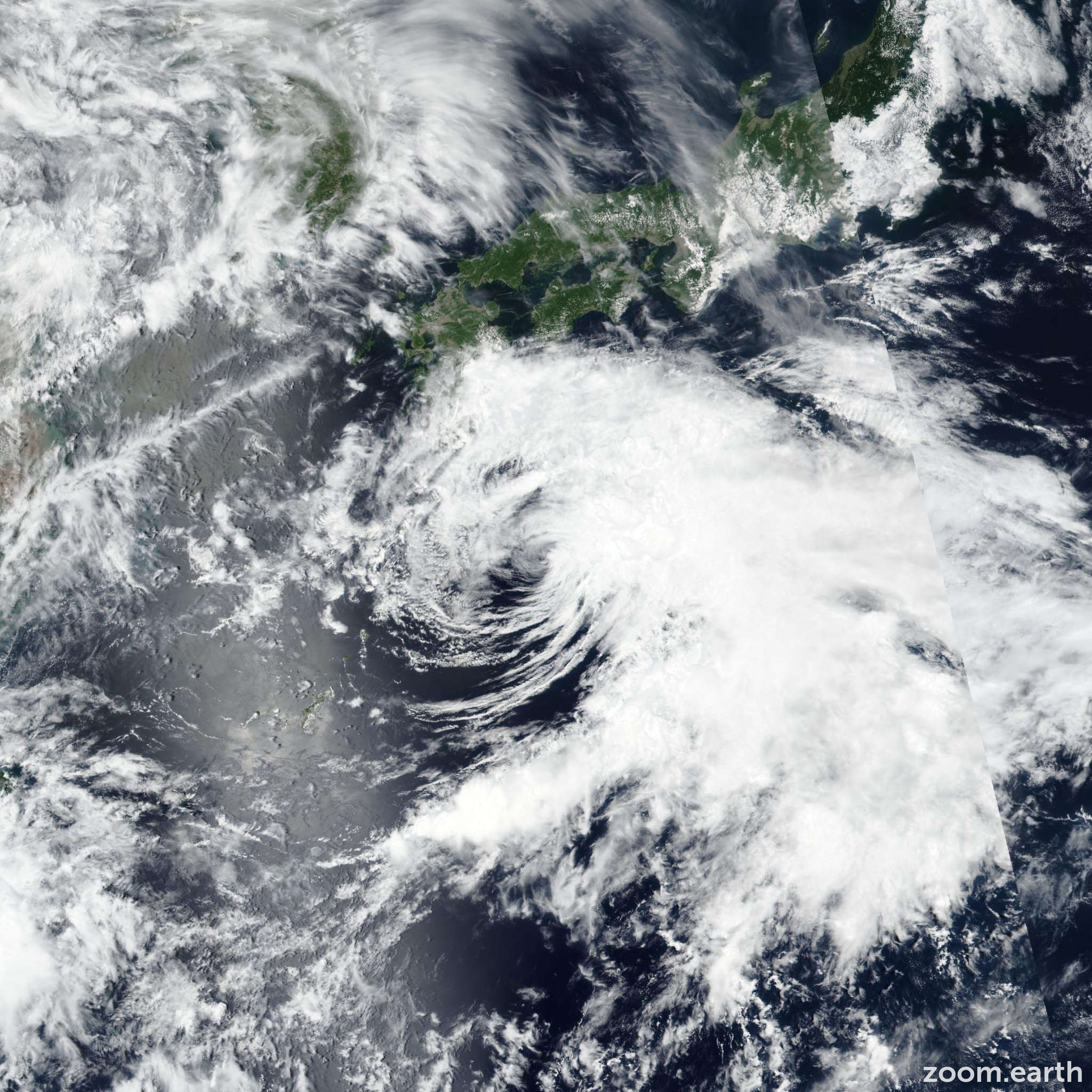 Satellite image of Storm Gaemi (Ester) 2018