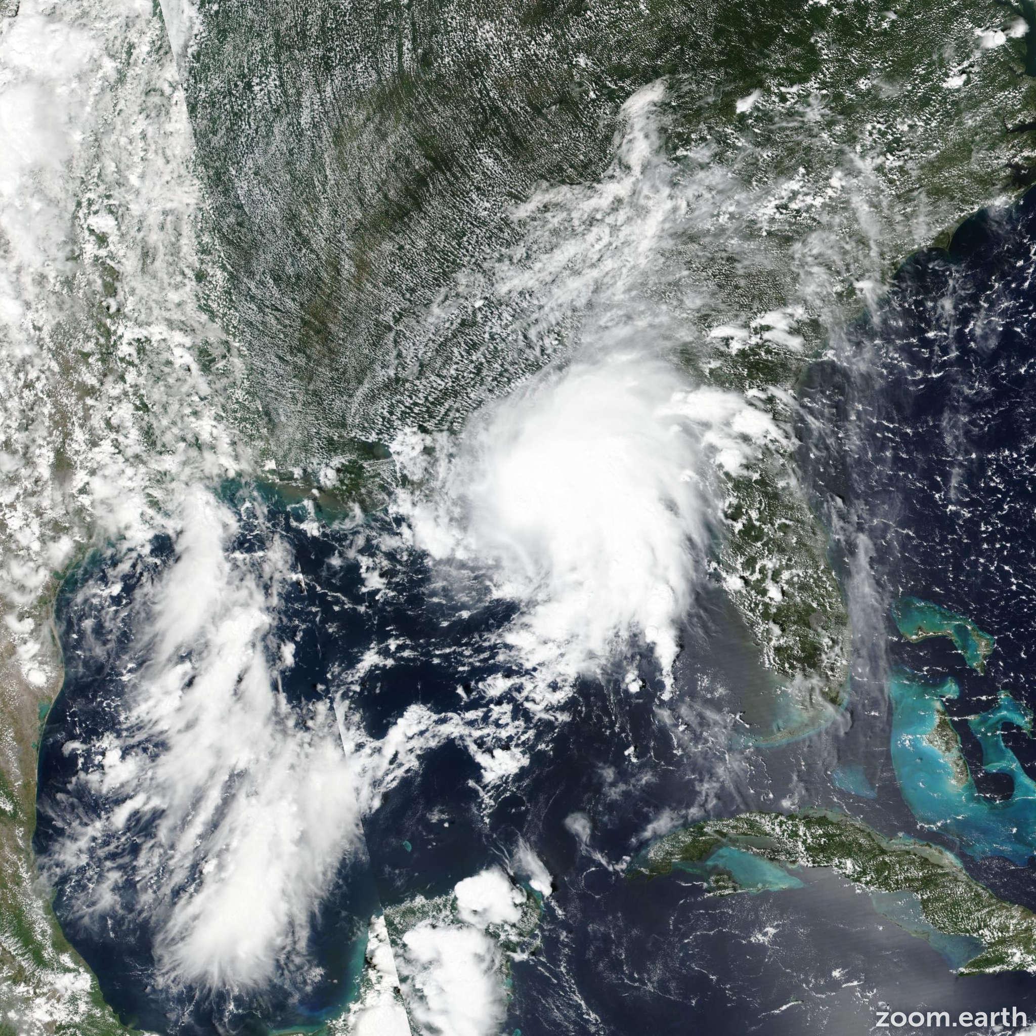 Satellite image of Storm Gordon 2018