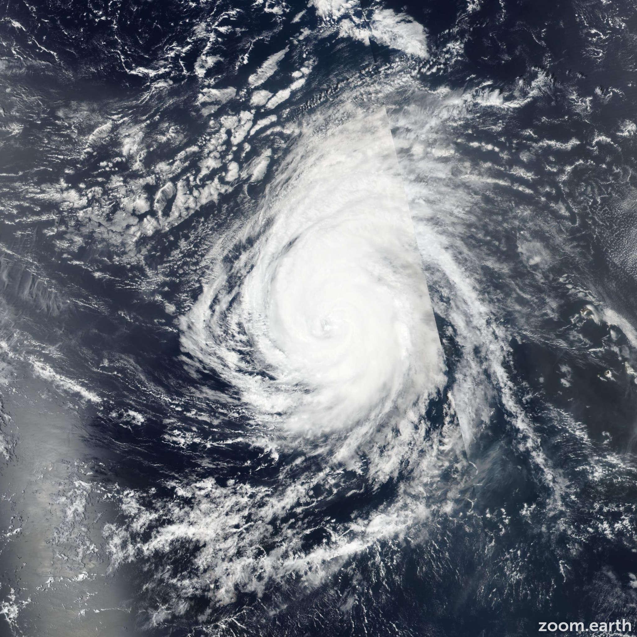 Satellite image of Hurricane Helene 2018