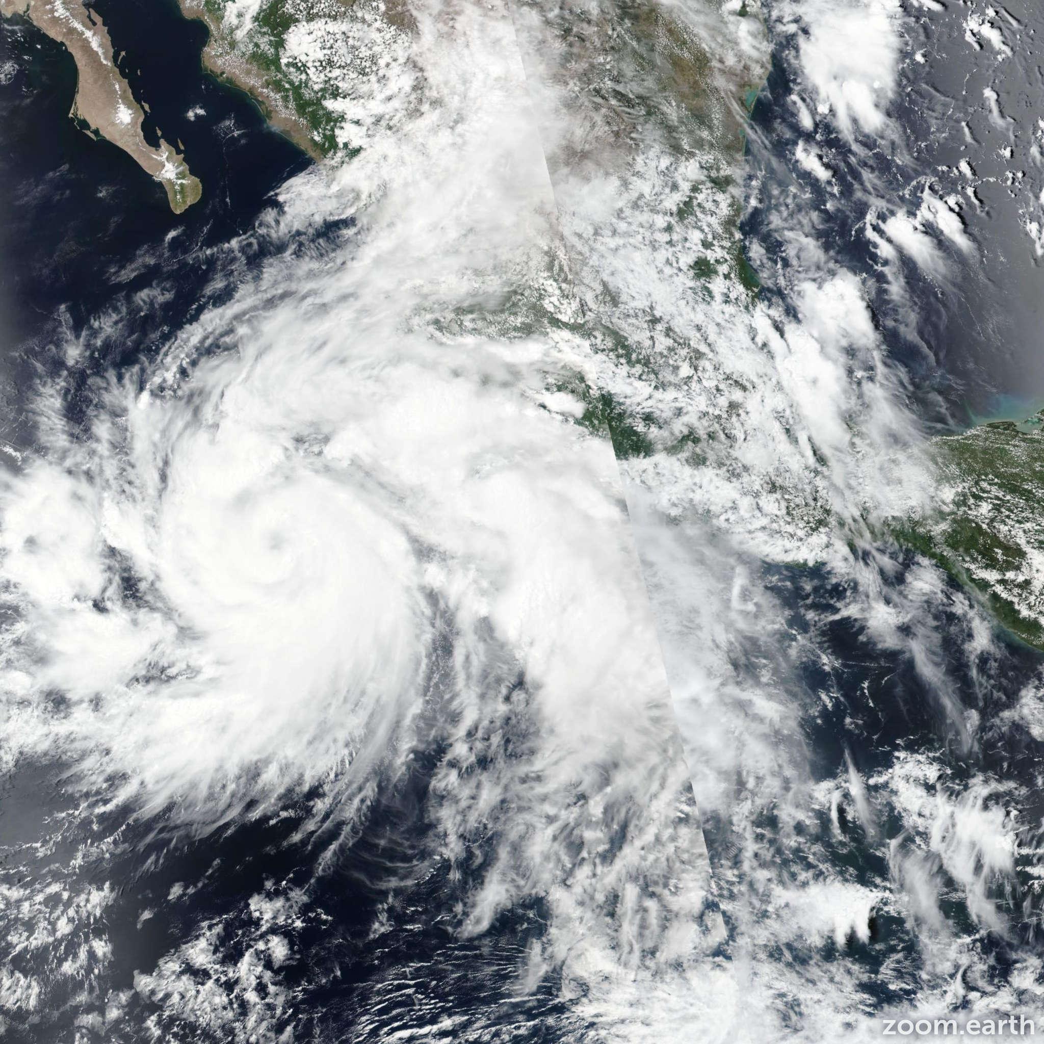 Satellite image of Storm Ileana 2018