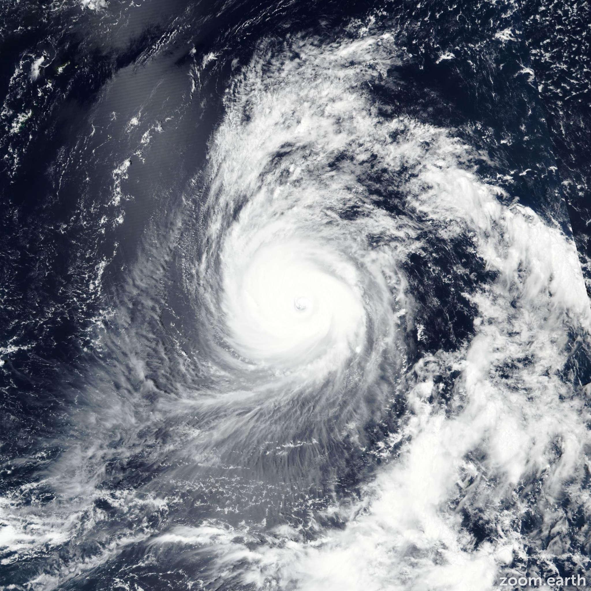 Satellite image of Typhoon Jebi 2018