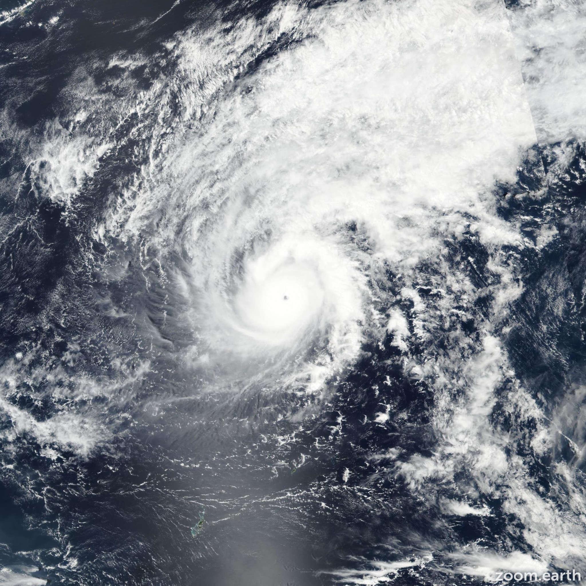 Satellite image of Typhoon Jelawat (Caloy) 2018