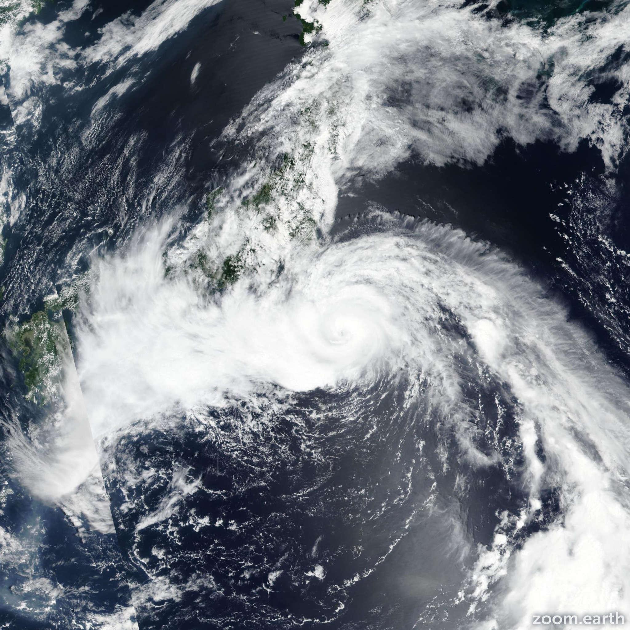 Satellite image of Typhoon Jongdari 2018