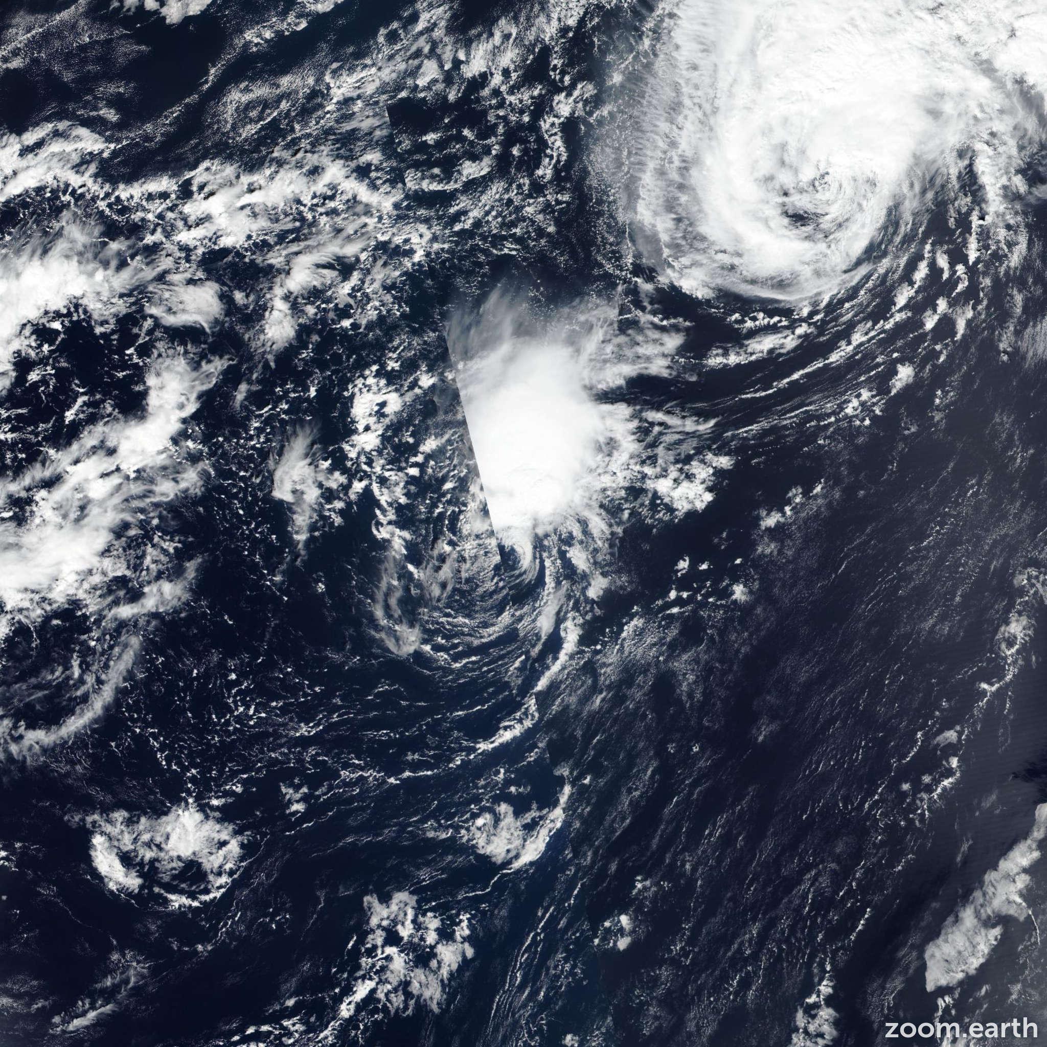 Satellite image of Storm Joyce 2018