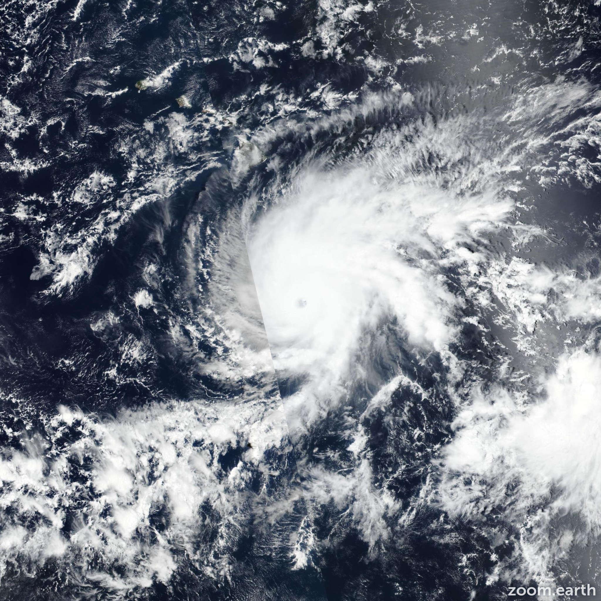 Satellite image of Hurricane Lane 2018