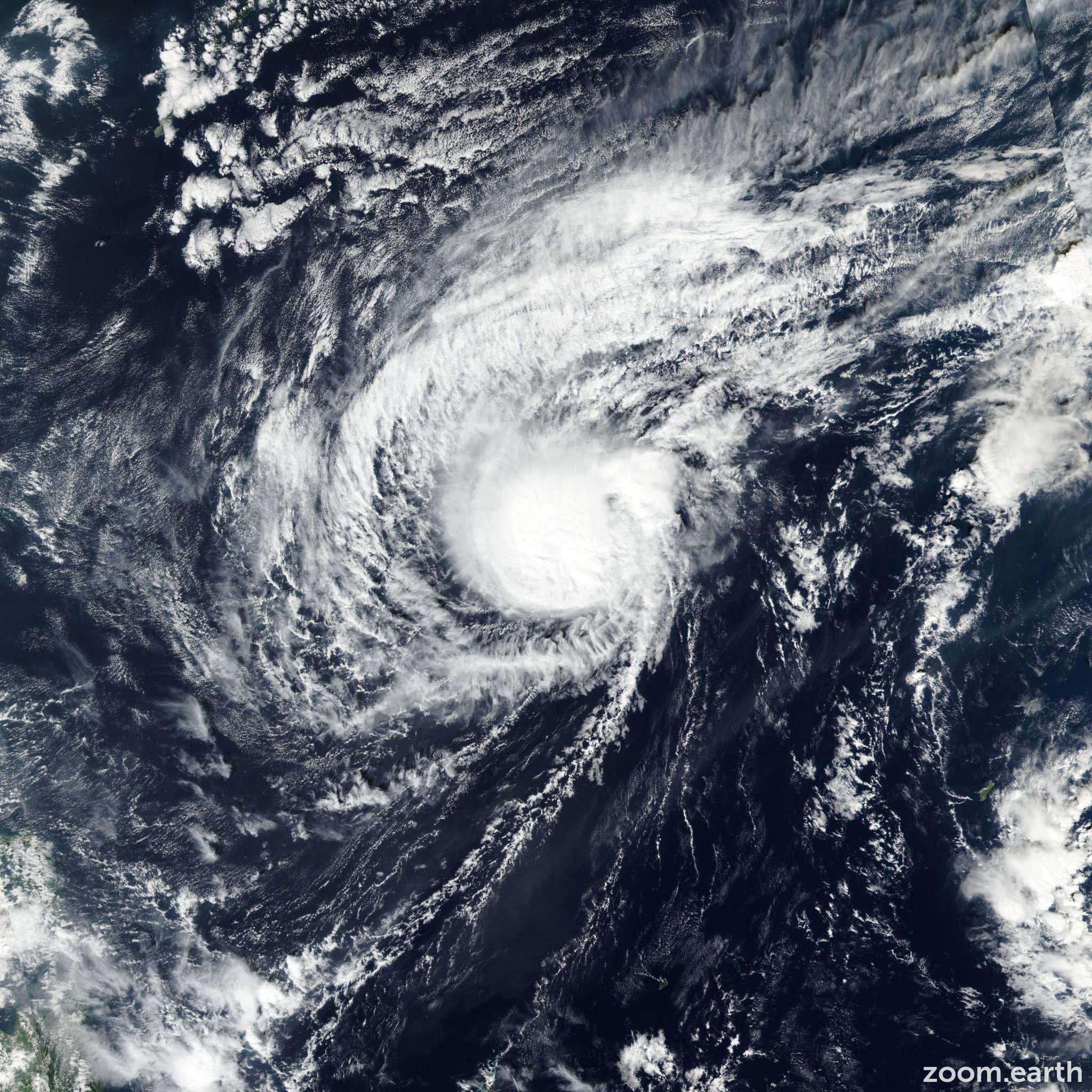 Satellite image of Typhoon Man-Yi (Tomas) 2018