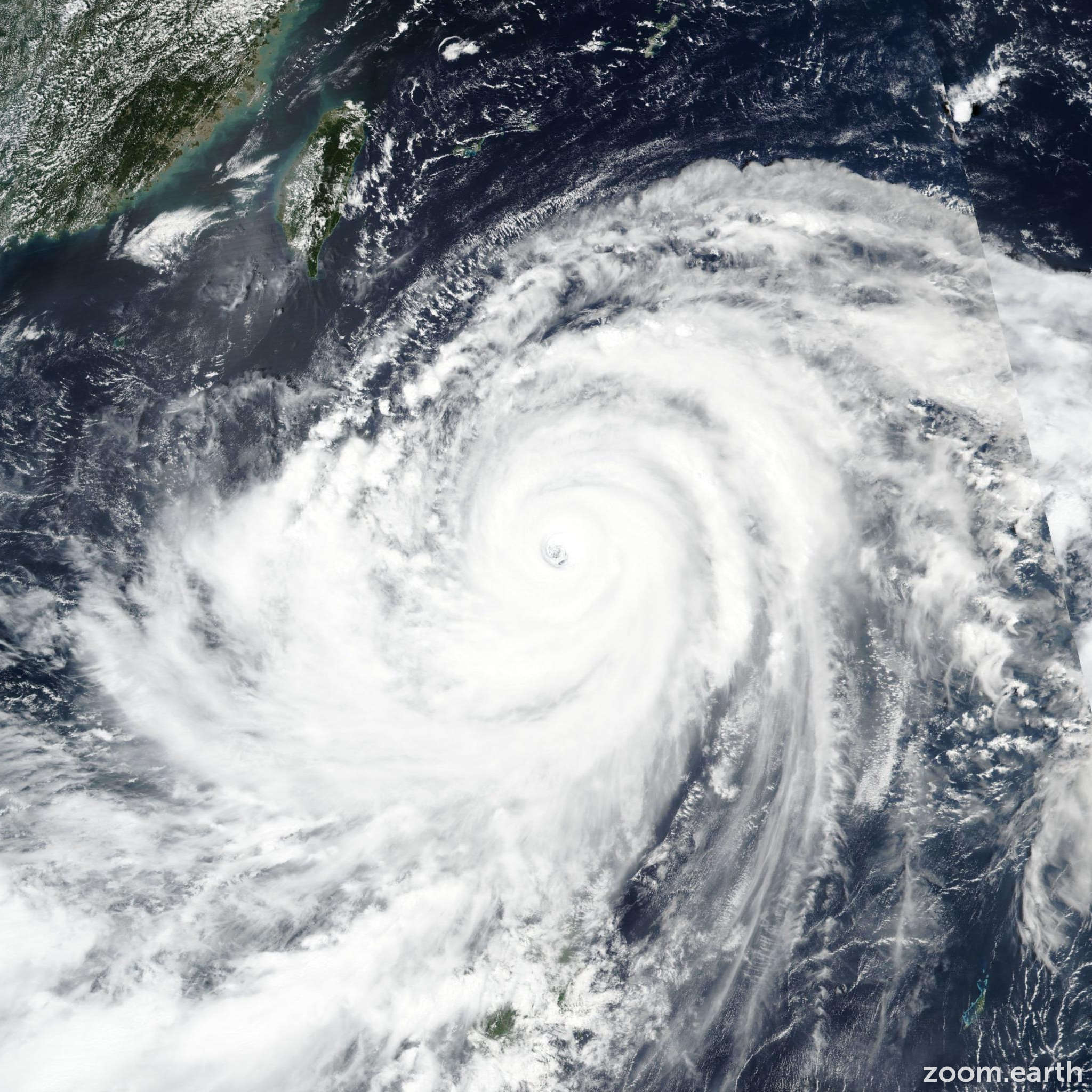 Satellite image of Typhoon Mangkhut (Ompong) 2018