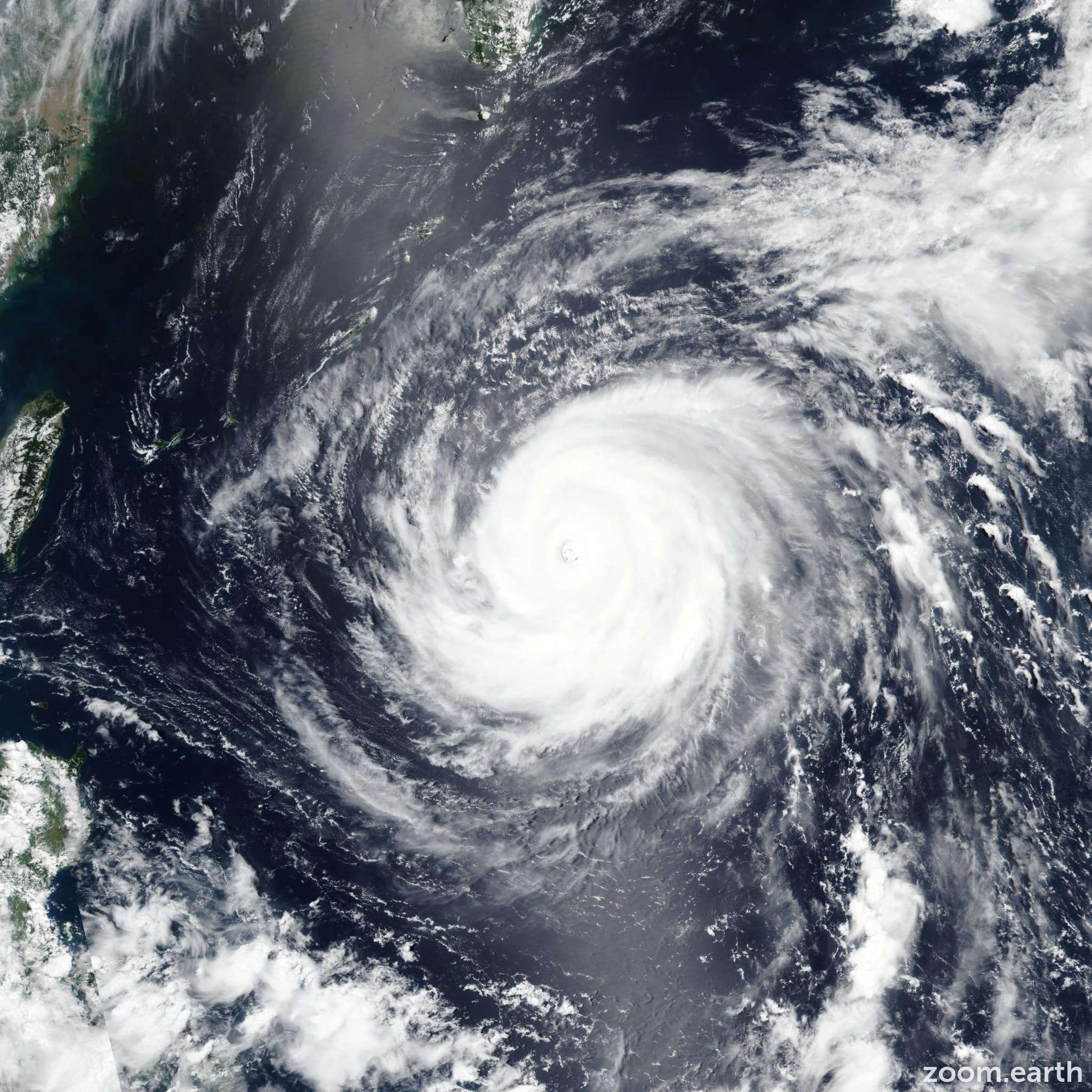 Satellite image of Typhoon Maria (Gardo) 2018