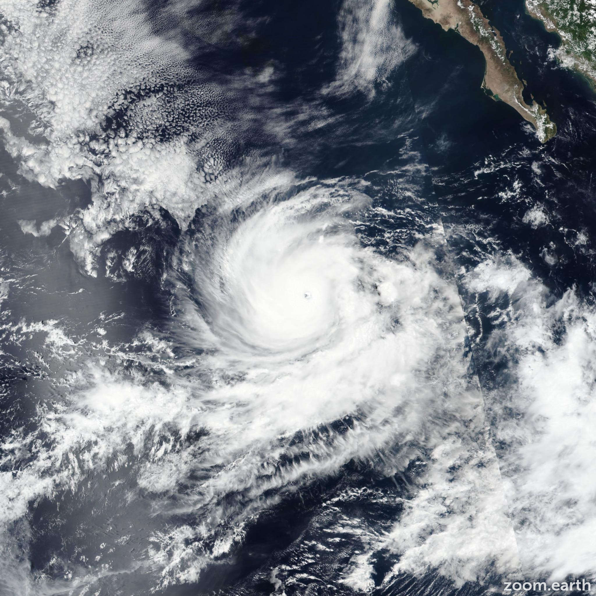 Satellite image of Hurricane Norman 2018