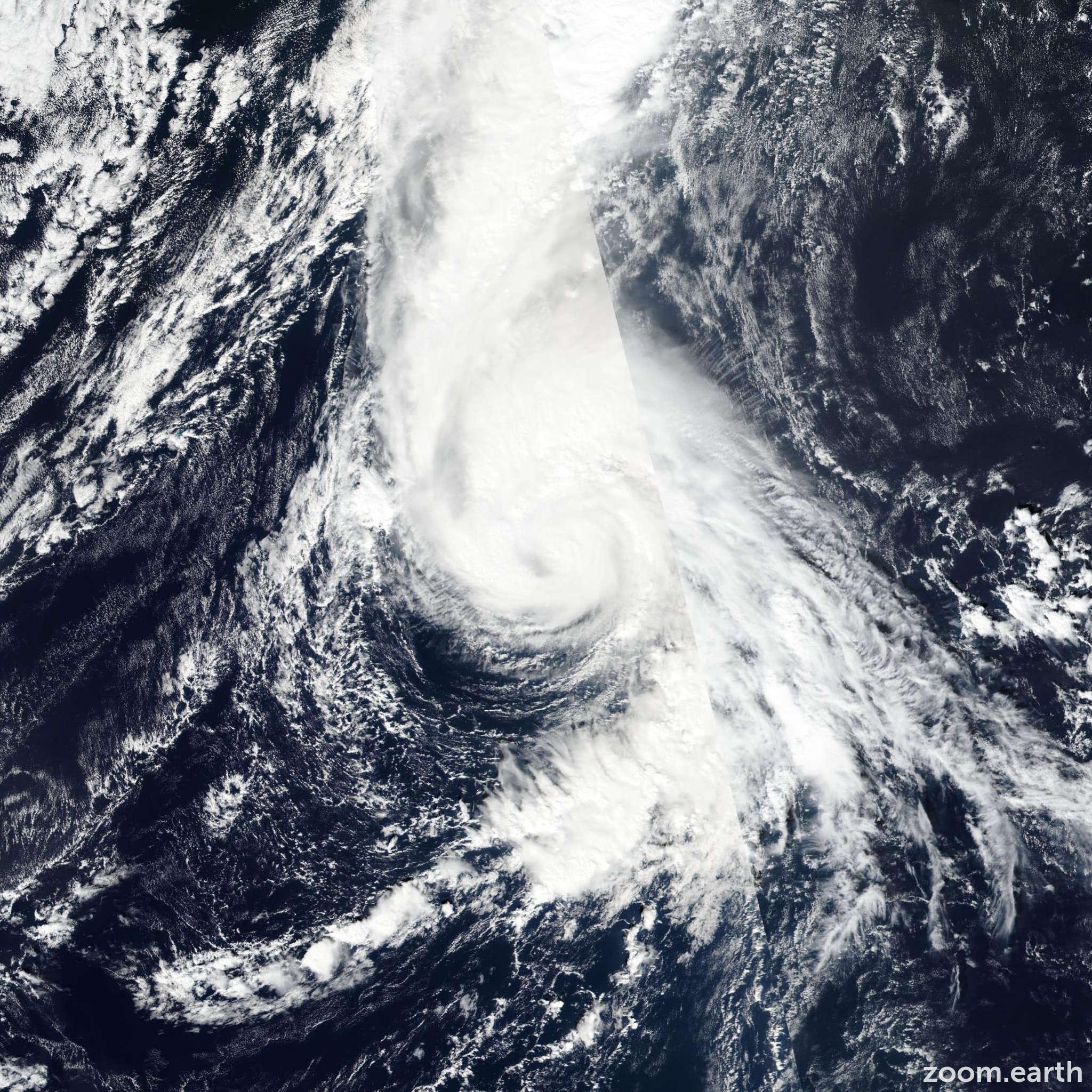 Satellite image of Hurricane Oscar 2018