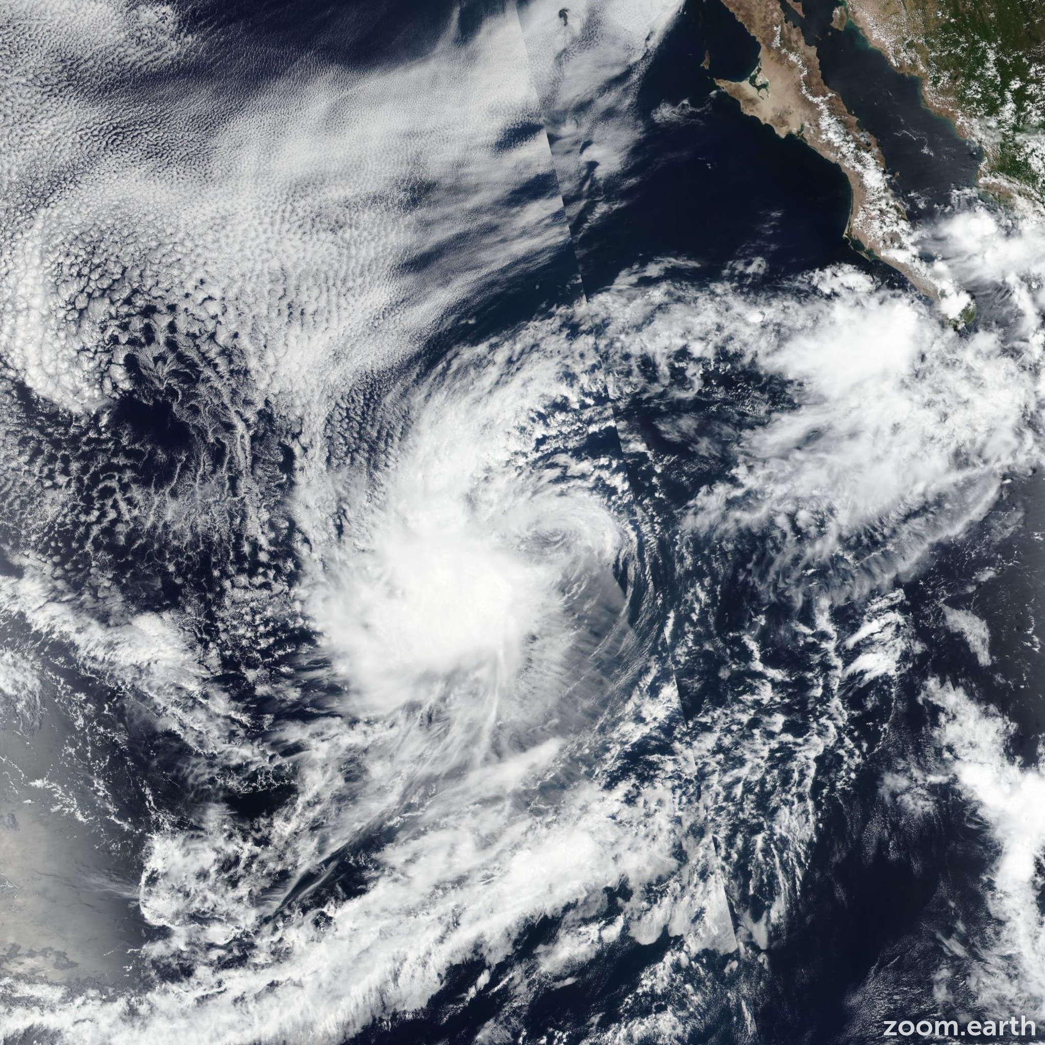 Satellite image of Storm Paul 2018