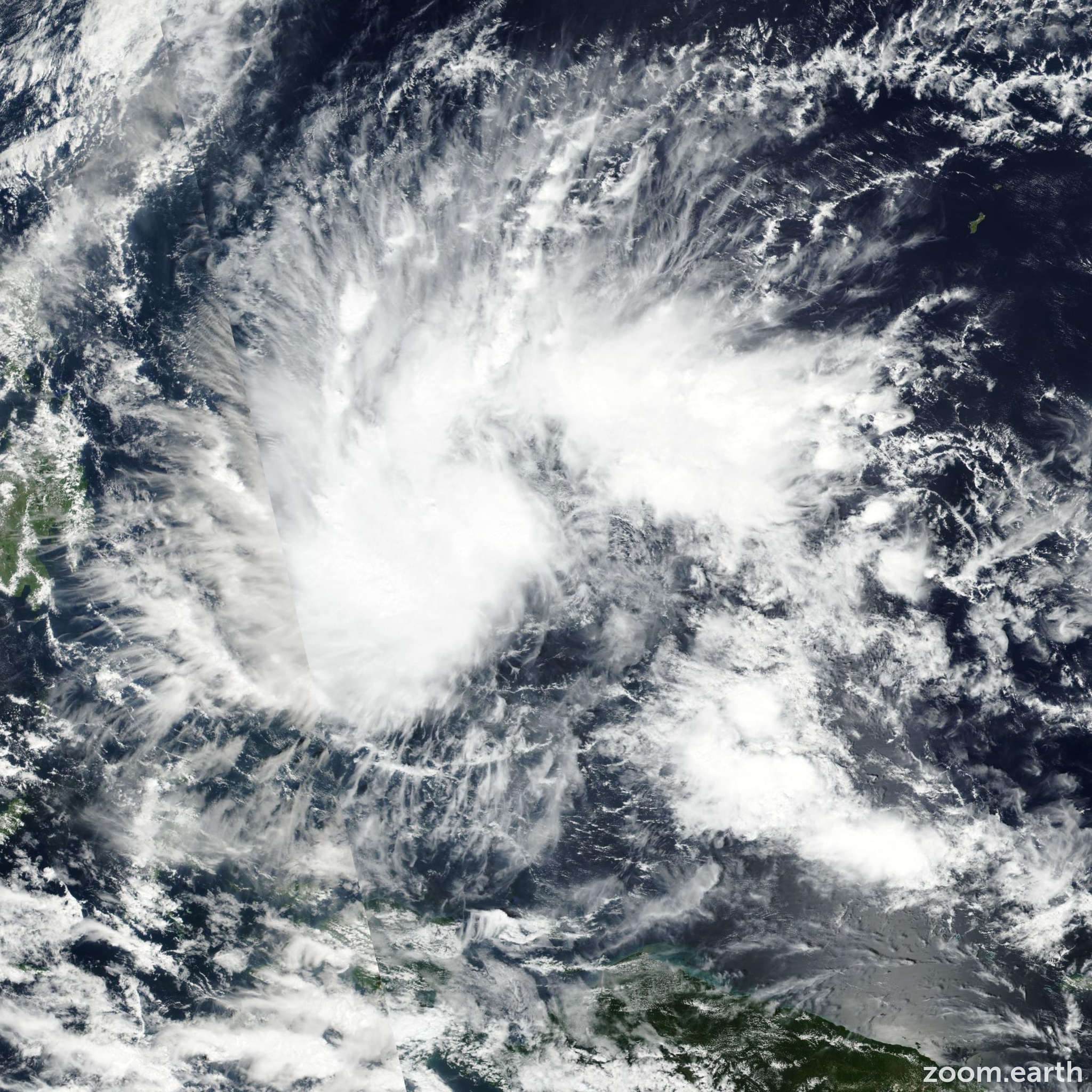 Satellite image of Storm Sanba (Basyang) 2018