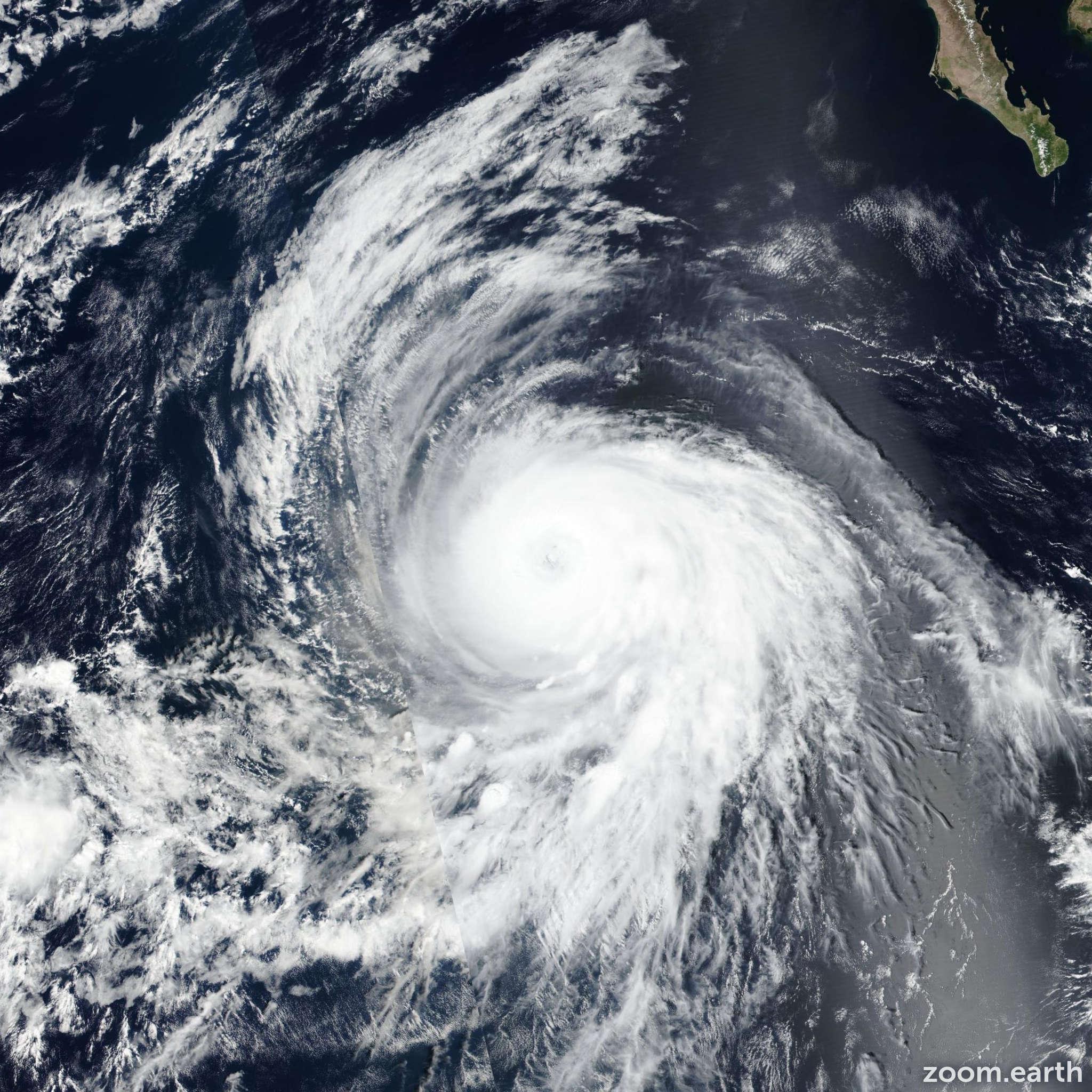 Satellite image of Hurricane Sergio 2018