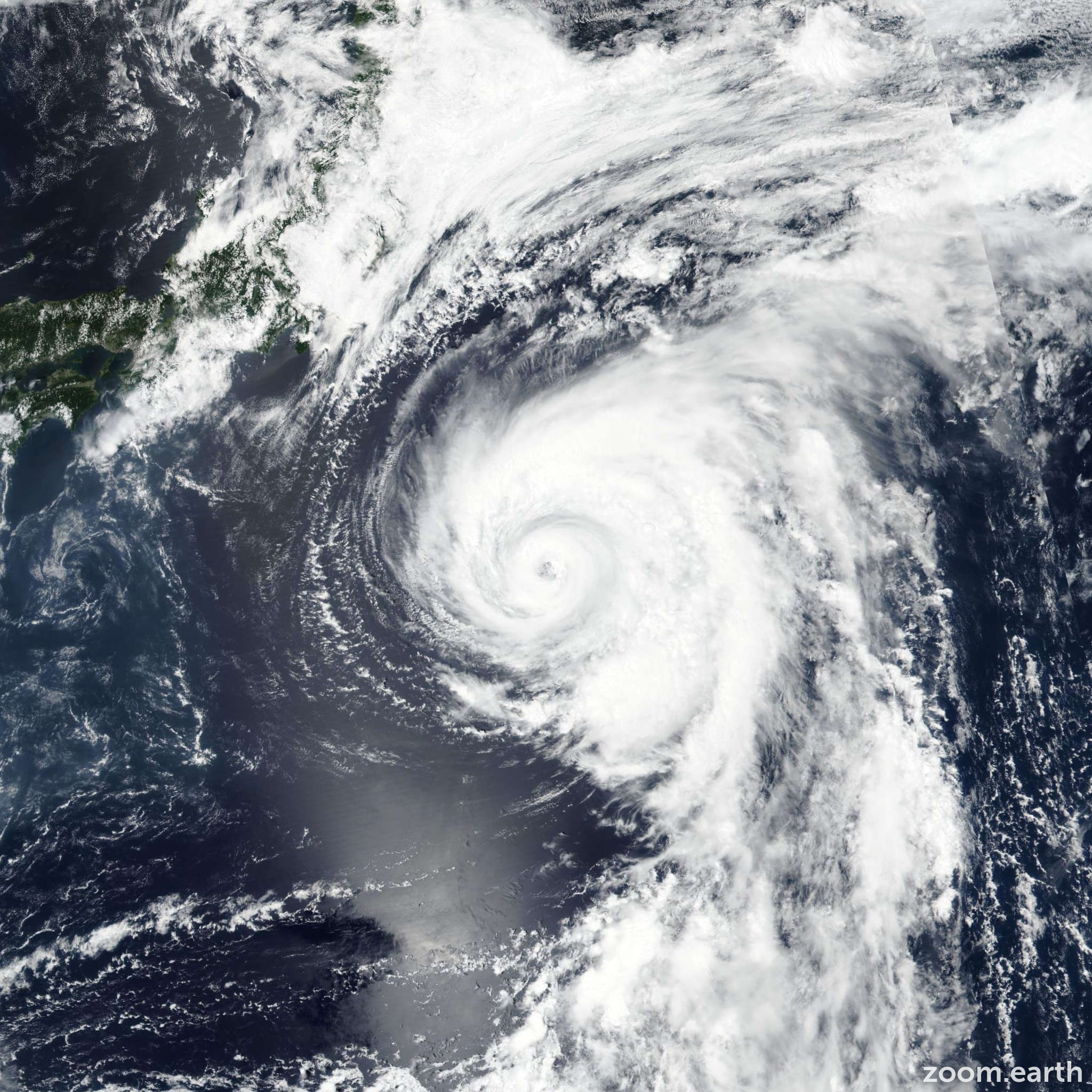 Satellite image of Typhoon Shanshan 2018