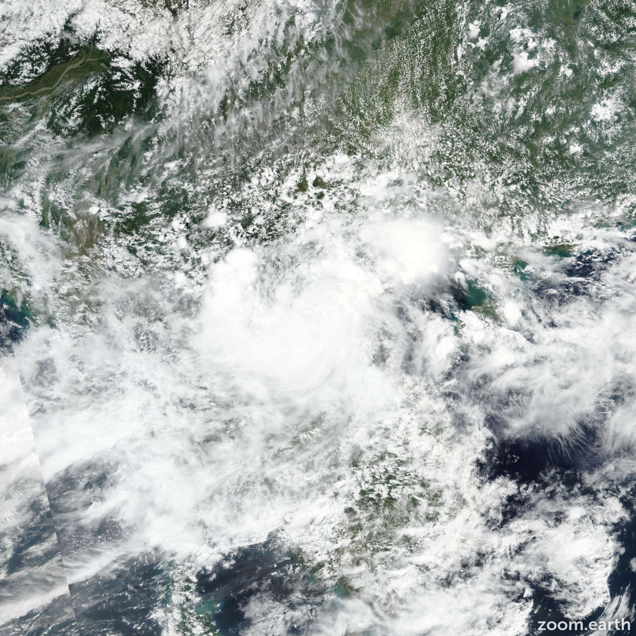 Satellite image of Storm Son-Tinh 2018