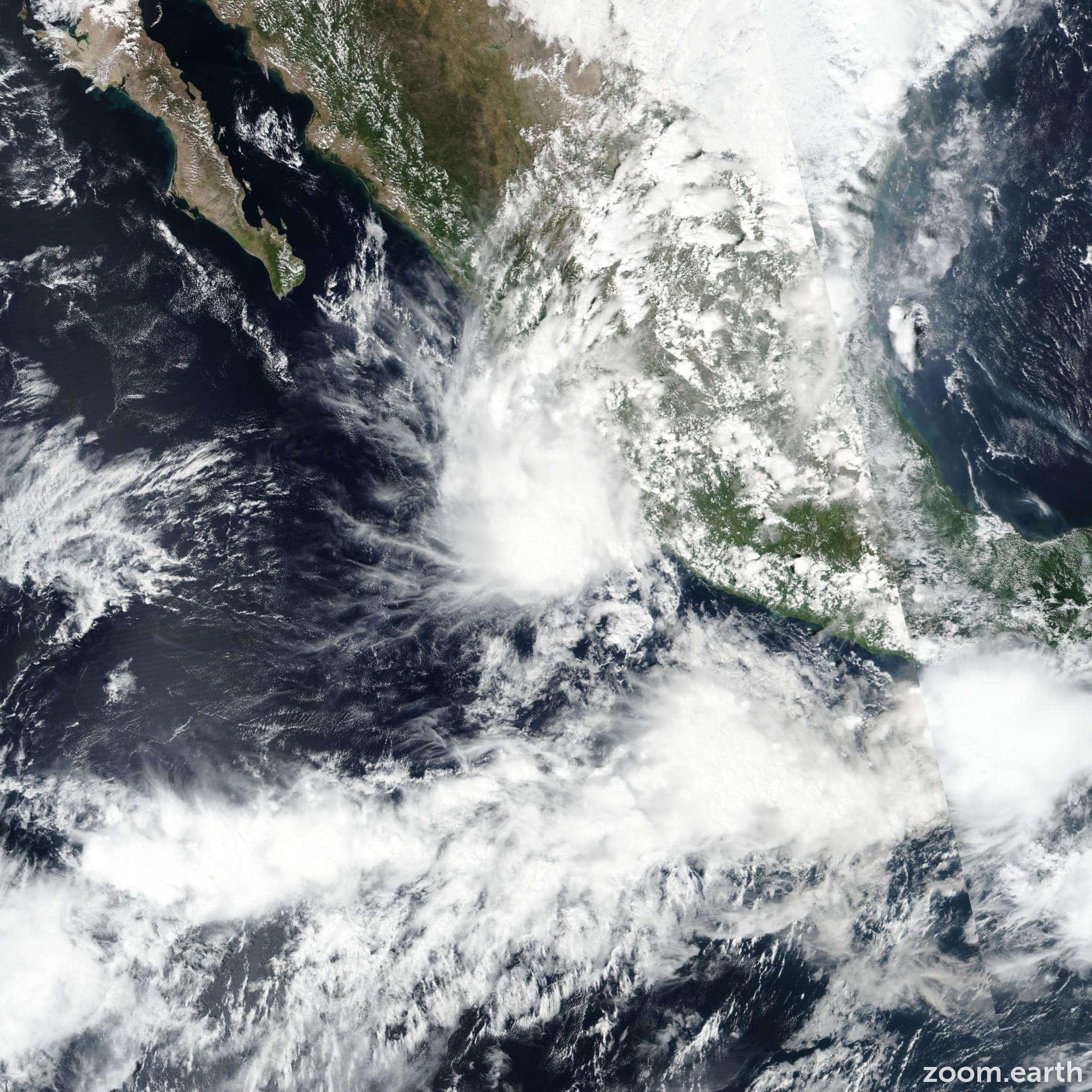 Satellite image of Storm Tara 2018