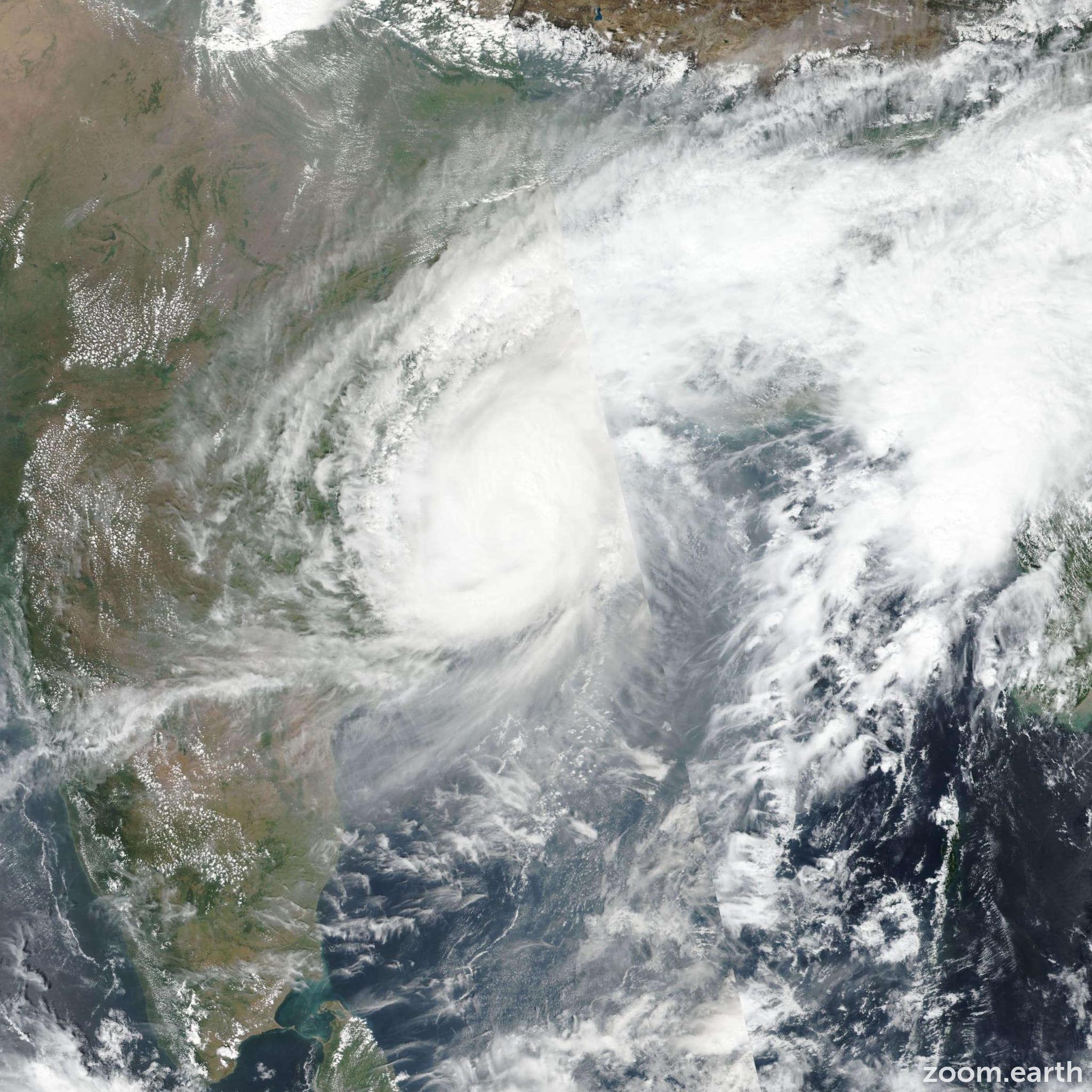 Satellite image of Cyclone Titli 2018