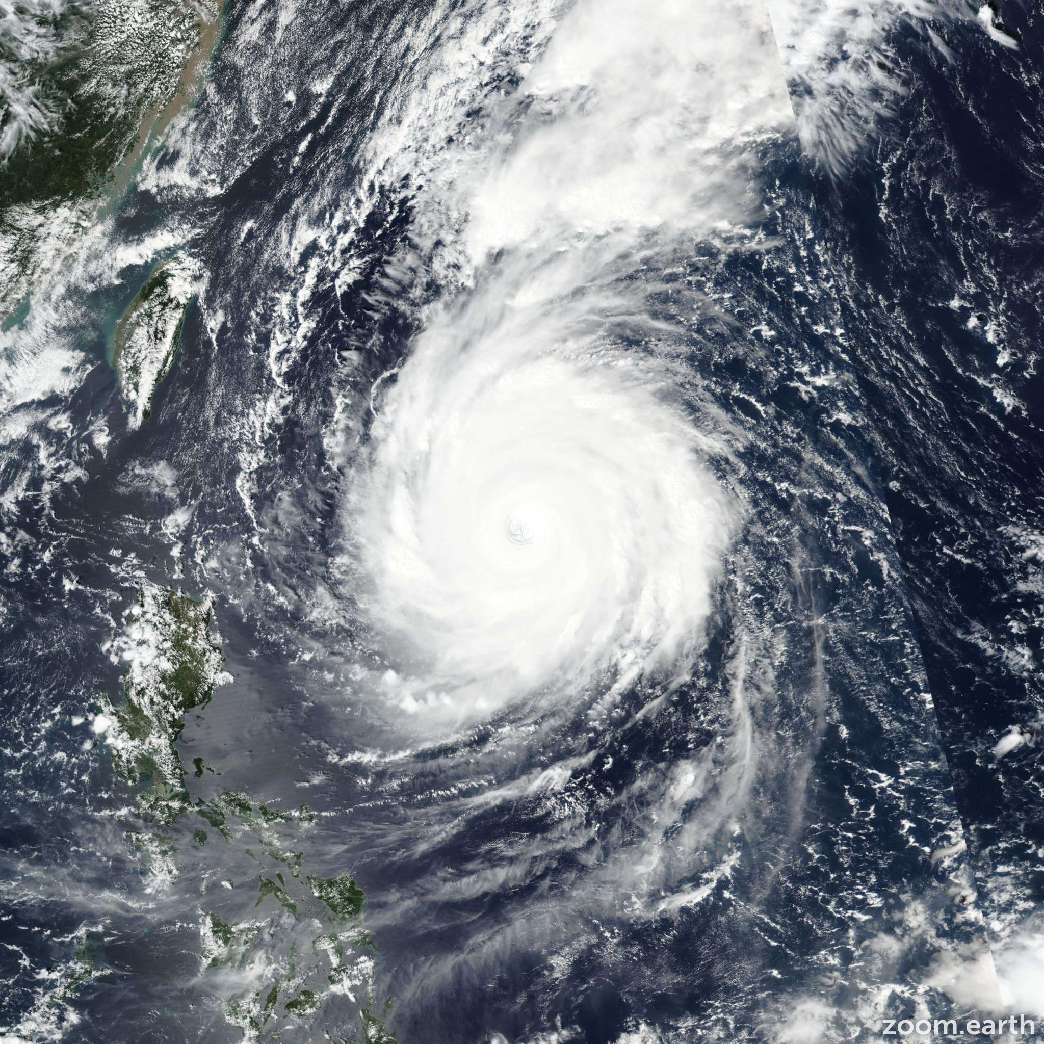 Satellite image of Typhoon Trami (Paeng) 2018