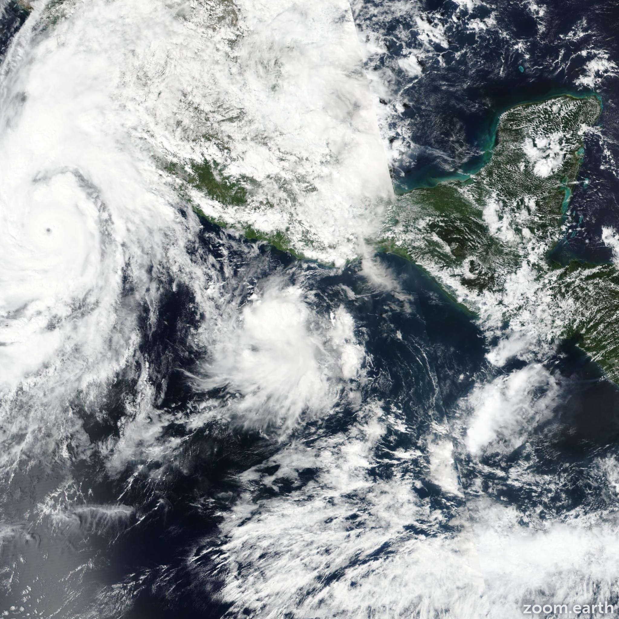 Satellite image of Storm Vicente 2018