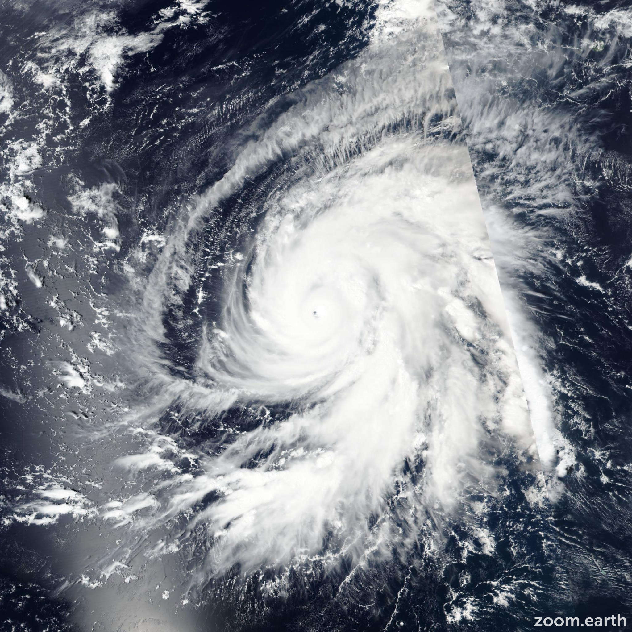 Satellite image of Hurricane Walaka 2018