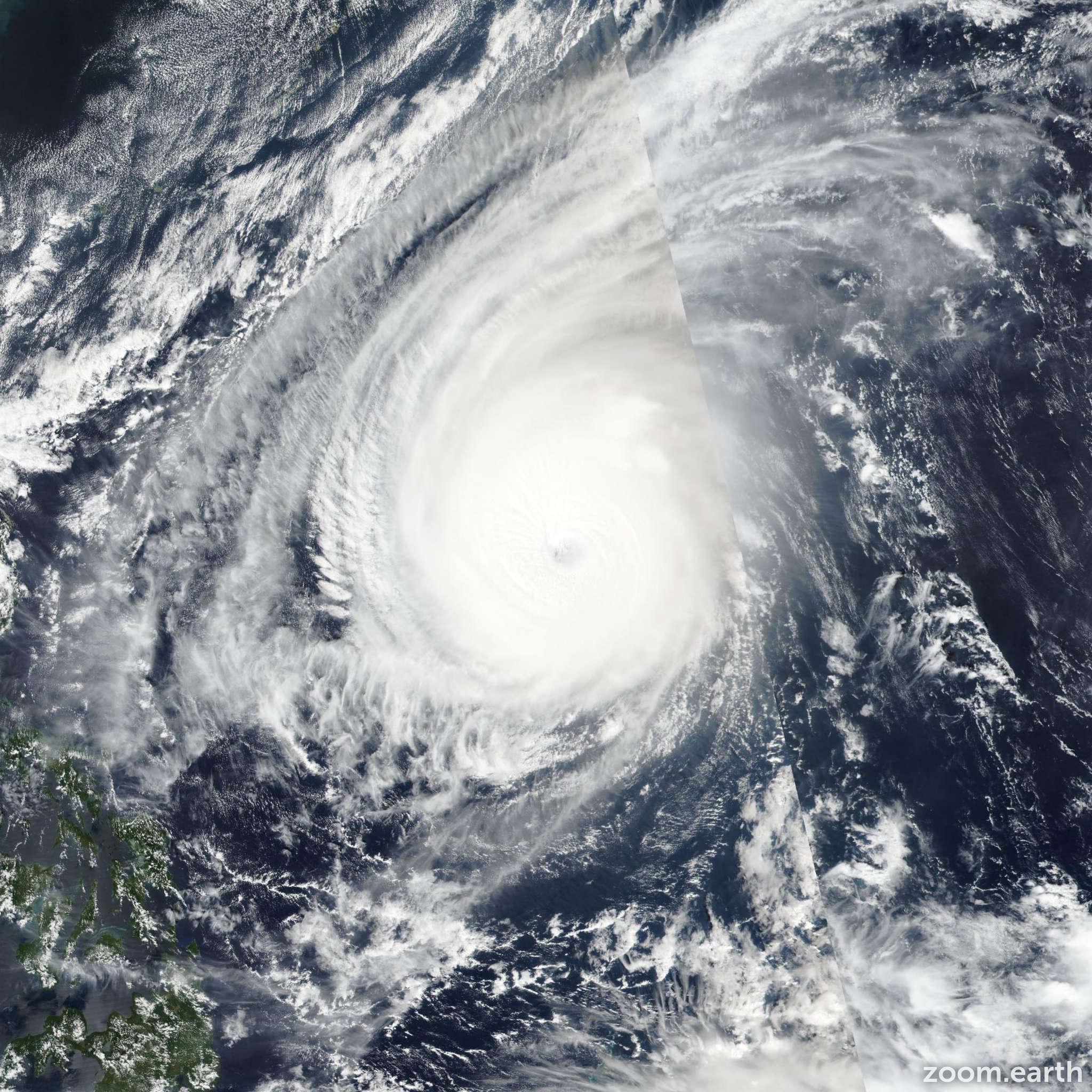 Satellite image of Typhoon Yutu (Rosita) 2018