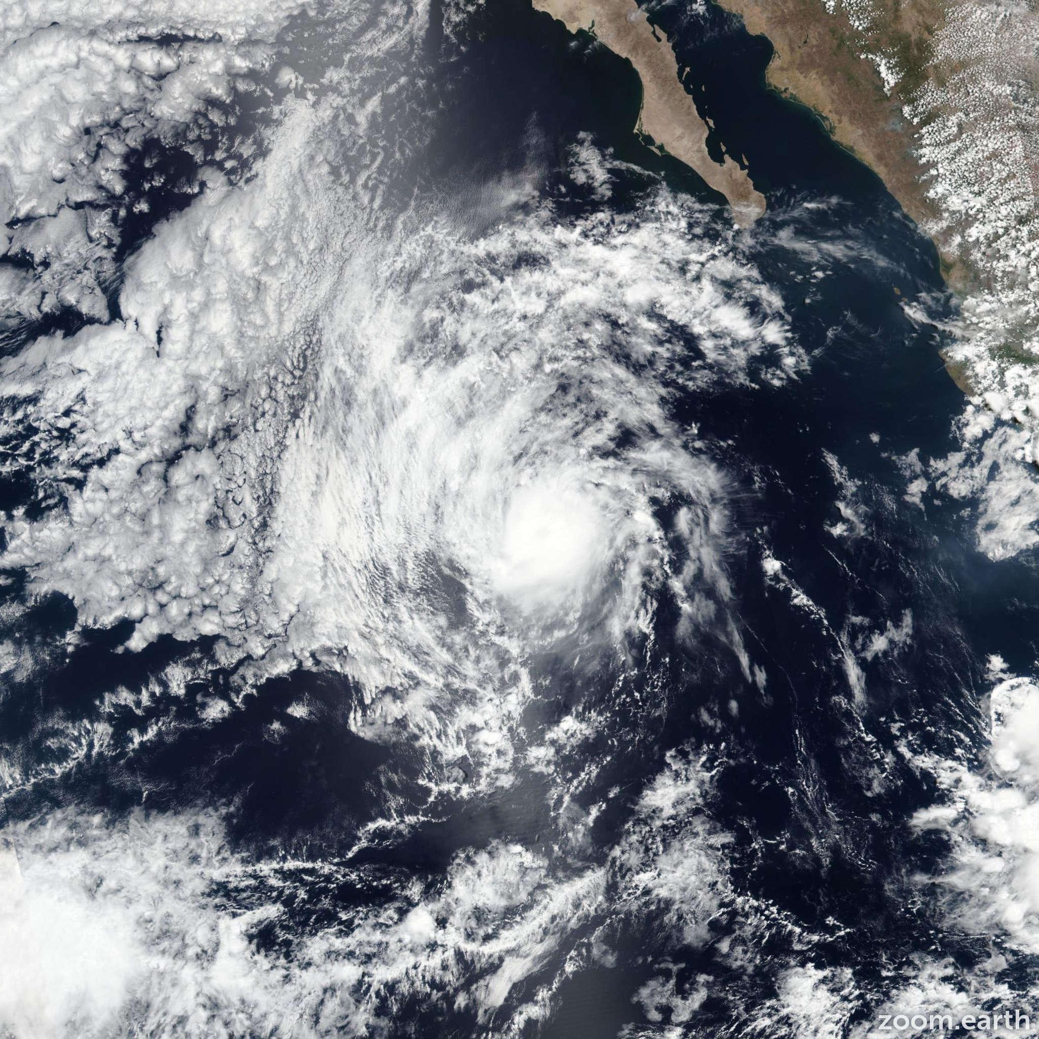 Satellite image of Hurricane Alvin 2019