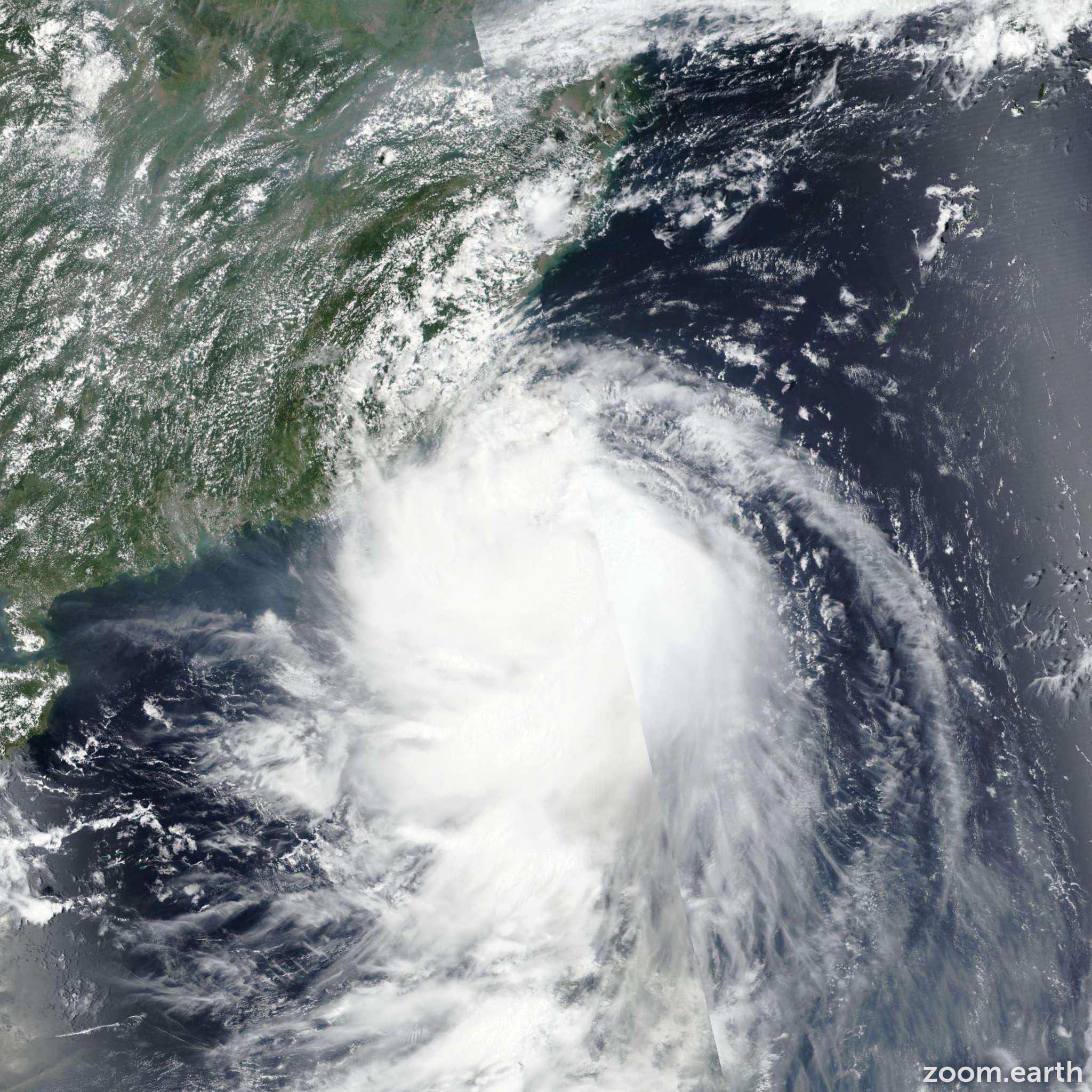 Satellite image of Storm Bailu (Ineng) 2019