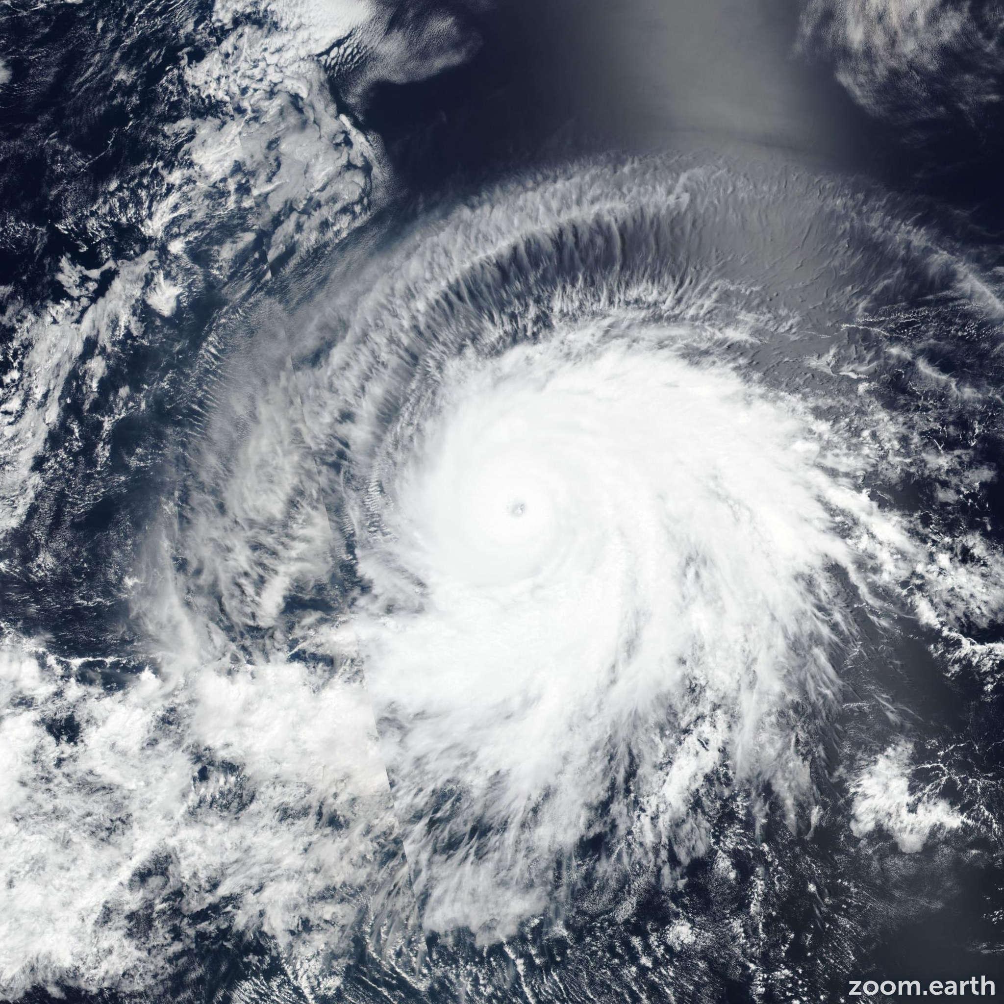 Satellite image of Hurricane Barbara 2019