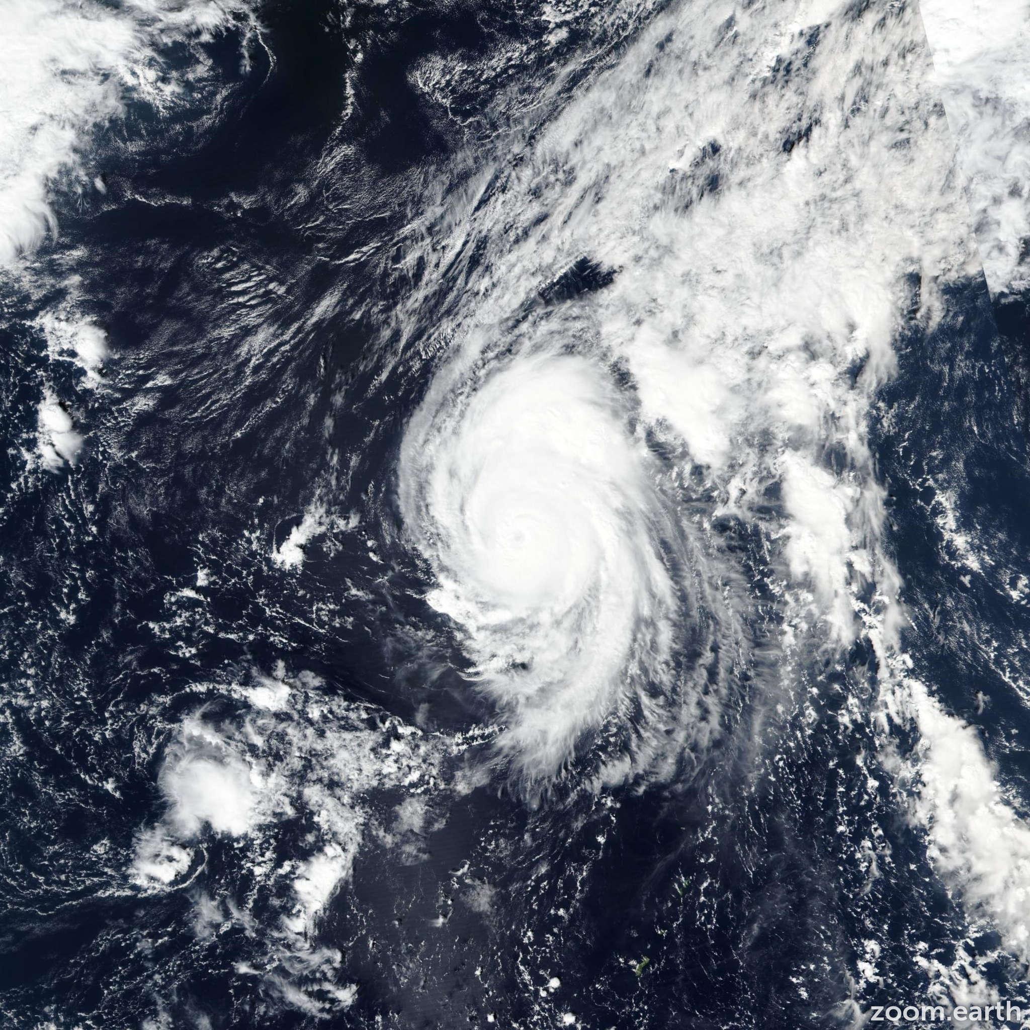 Satellite image of Typhoon Bualoi 2019