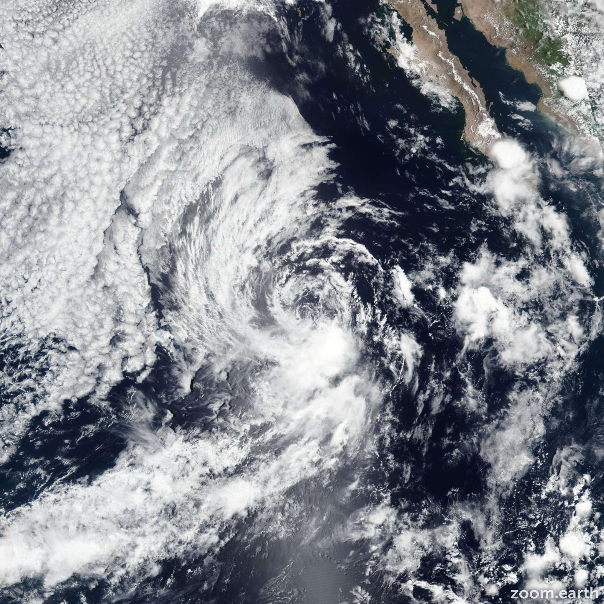 Satellite image of Storm Dalila 2019