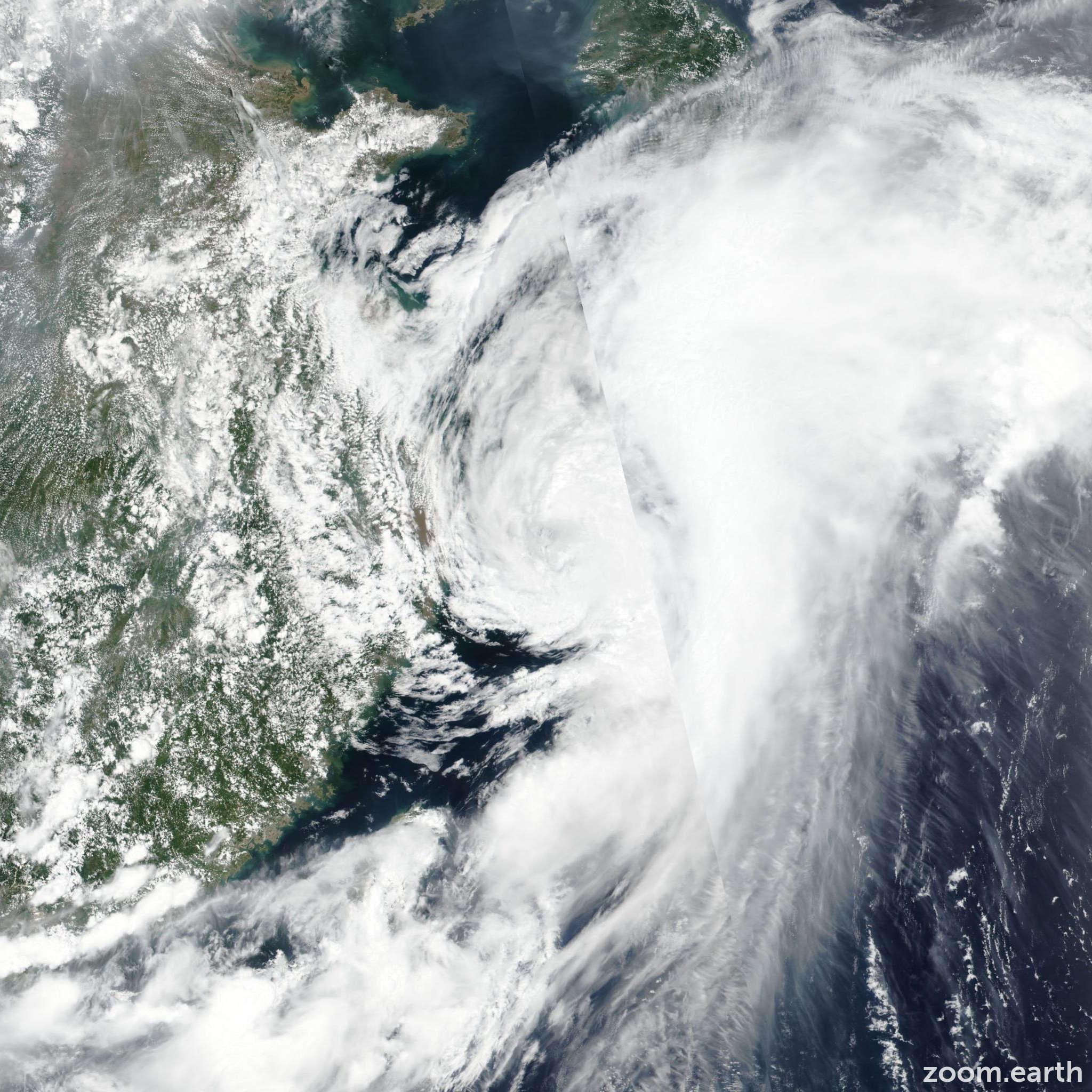 Satellite image of Storm Danas (Falcon) 2019