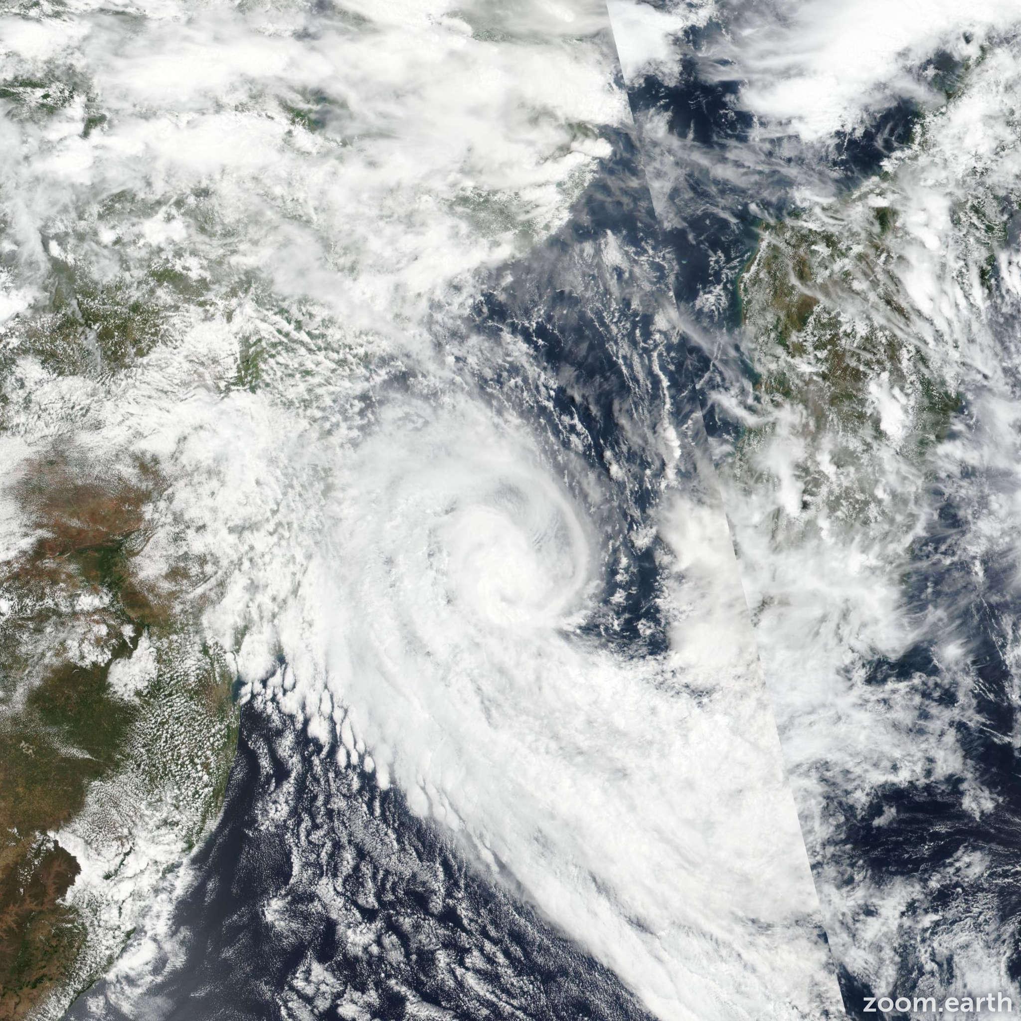 Satellite image of Storm Desmond 2019
