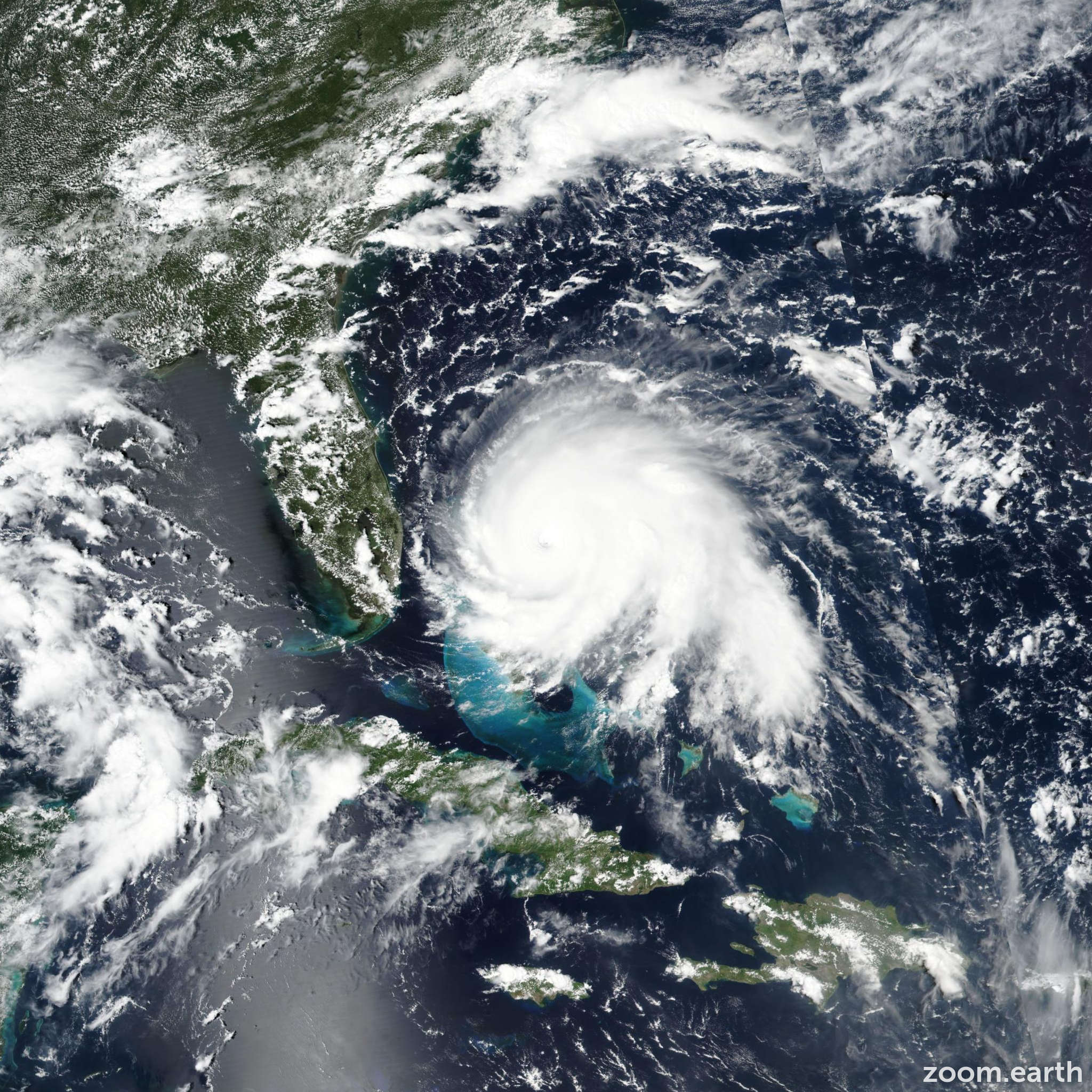 Satellite image of Hurricane Dorian 2019