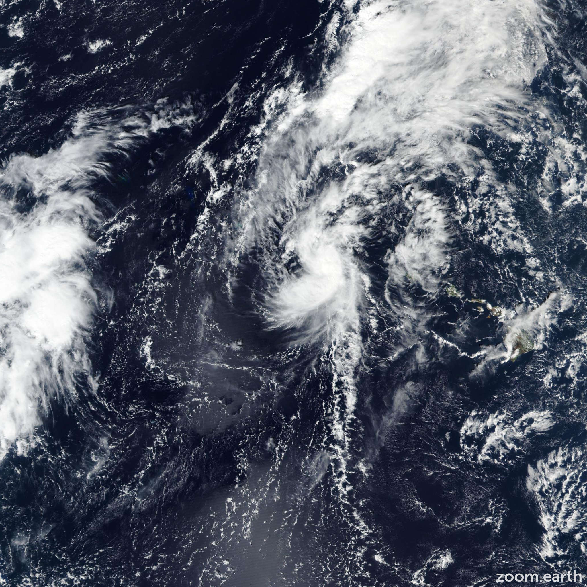 Satellite image of Storm Ema 2019