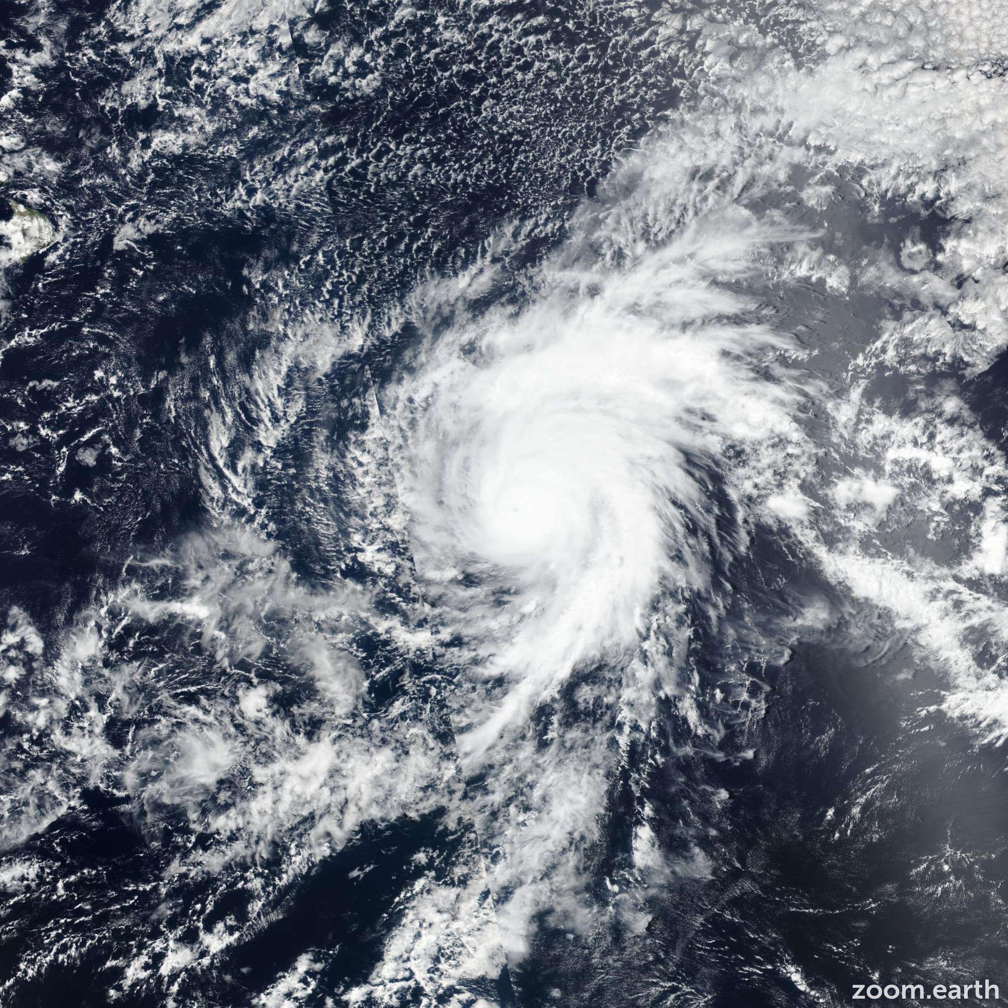 Satellite image of Hurricane Erick 2019