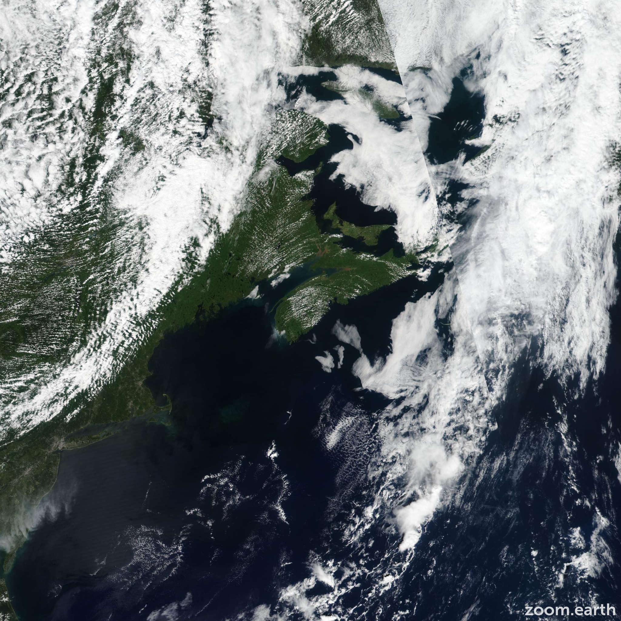 Satellite image of Storm Erin 2019