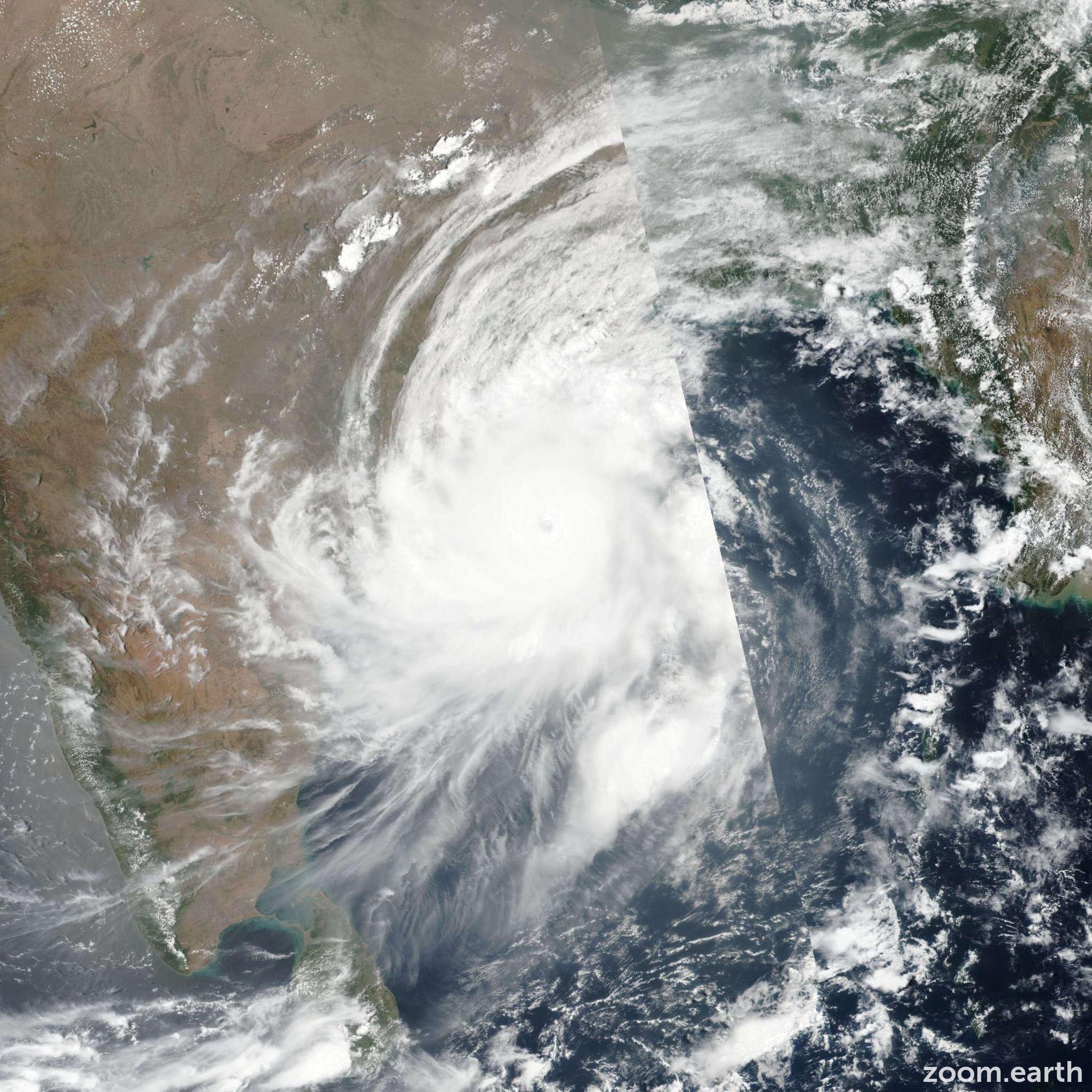 Satellite image of Cyclone Fani 2019