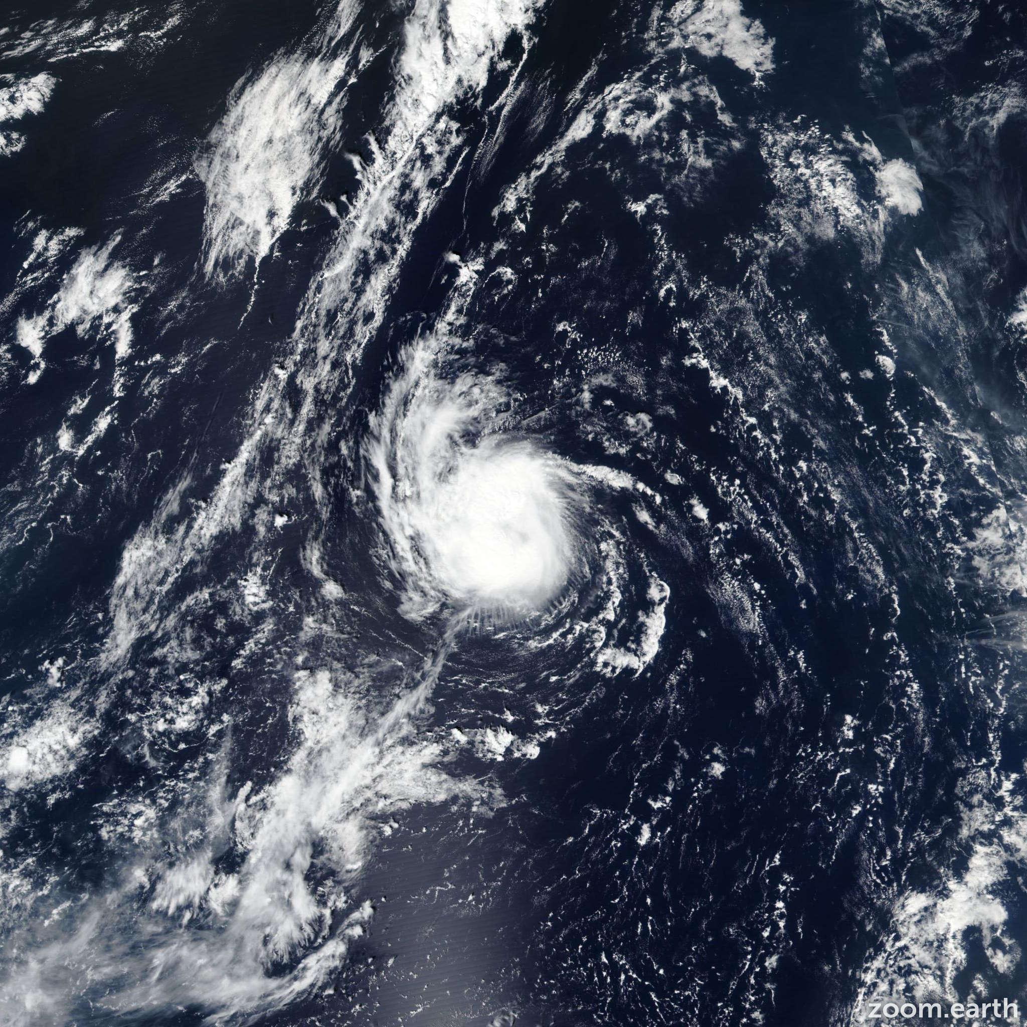 Satellite image of Storm Gabrielle 2019